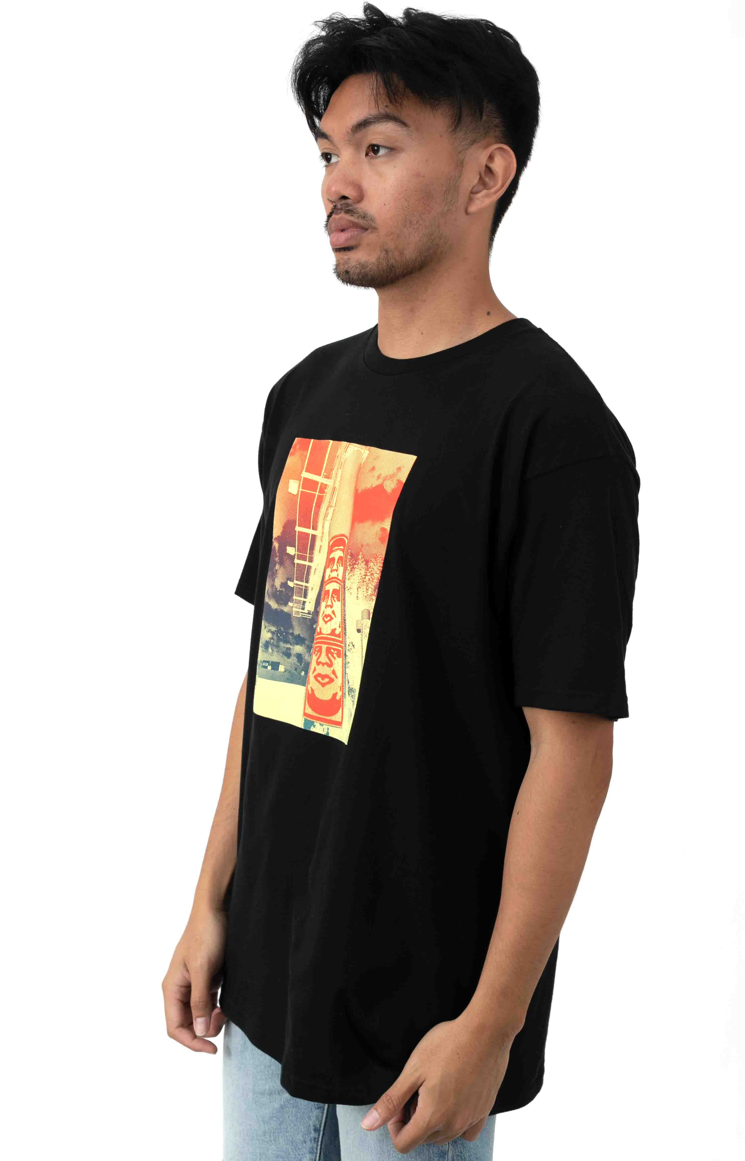 3 Face Clouds T-Shirt - Black 2