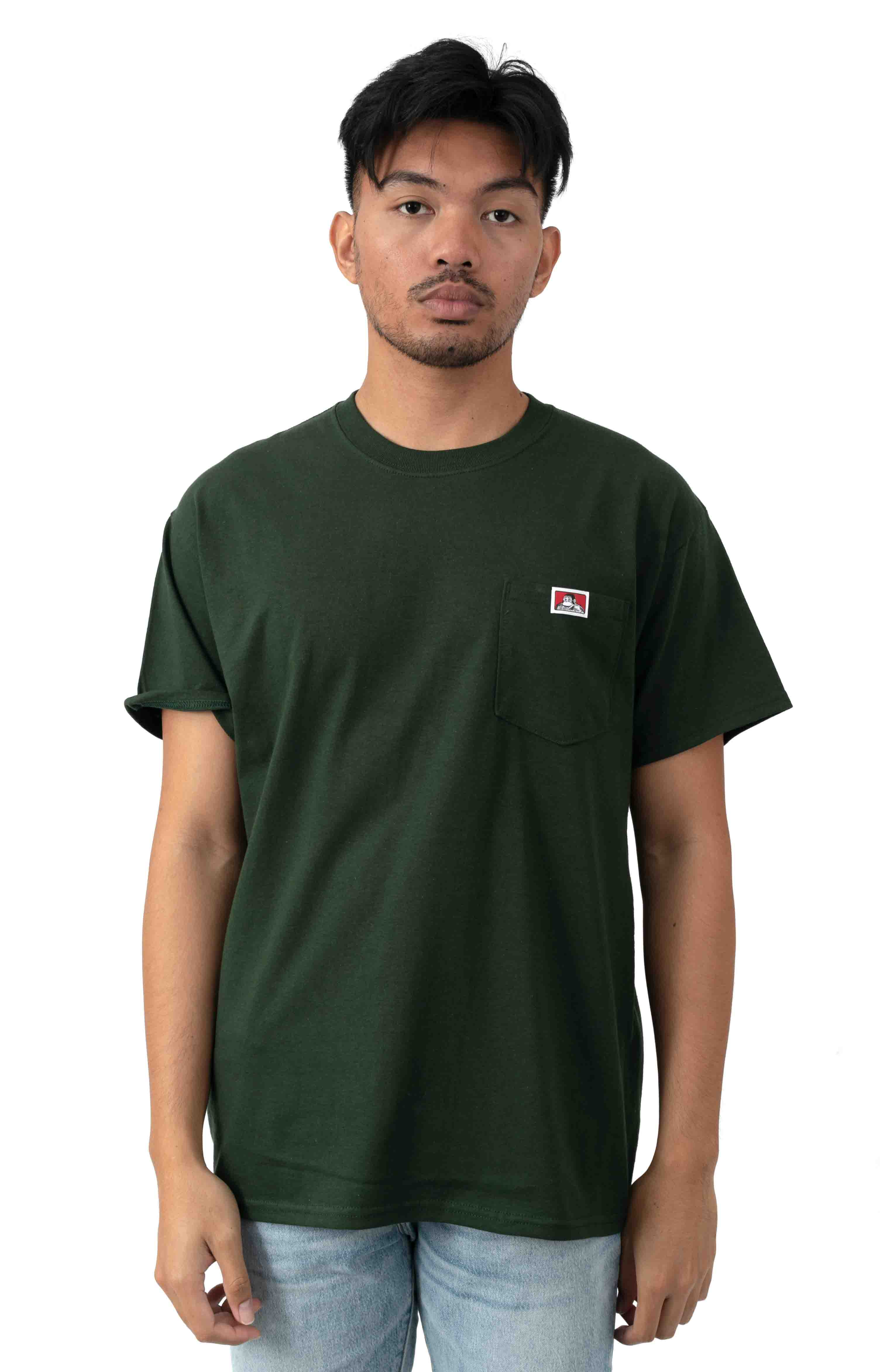 Classic Label Pocket T-Shirt - Hunter Green