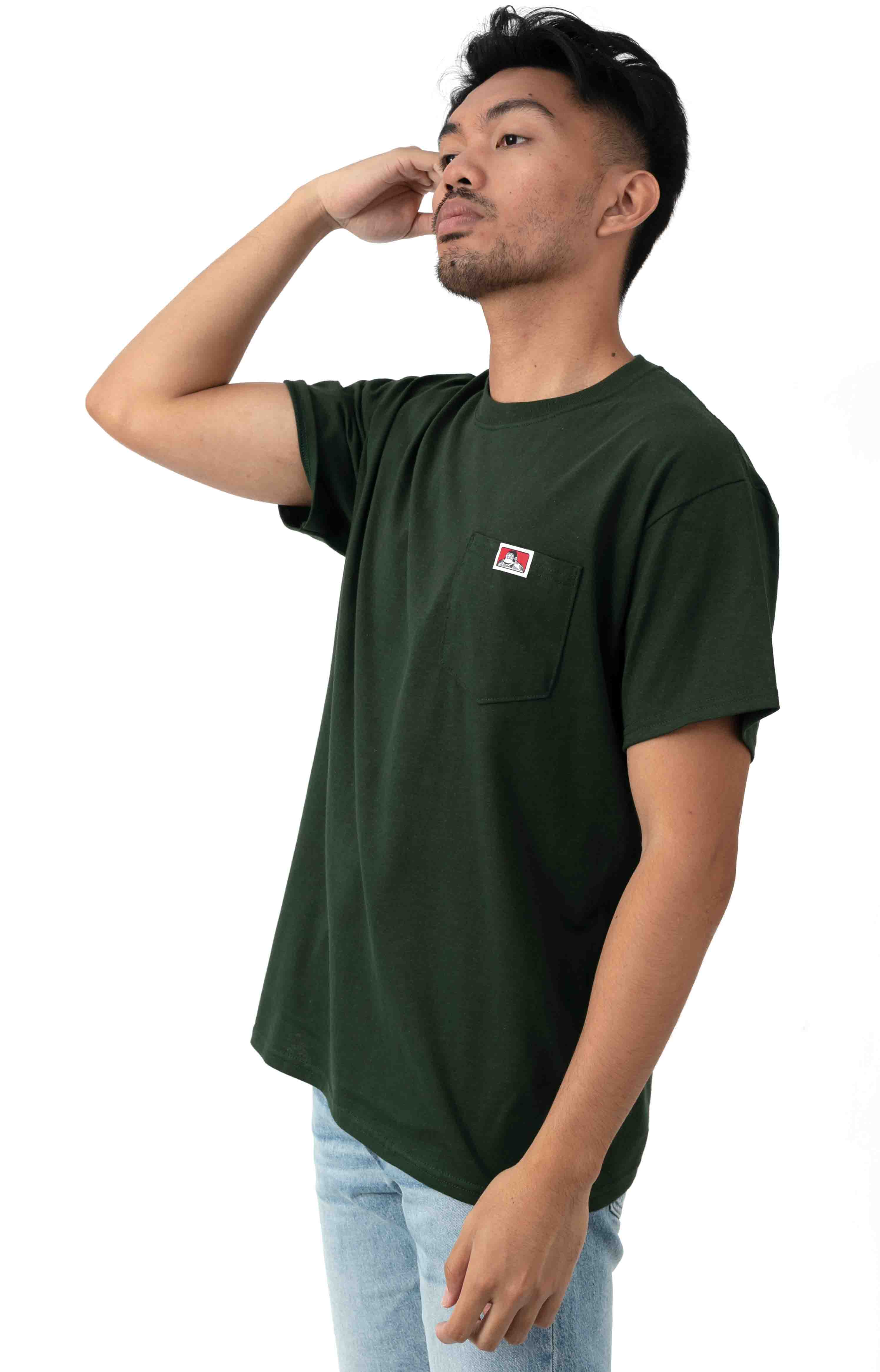Classic Label Pocket T-Shirt - Hunter Green 2
