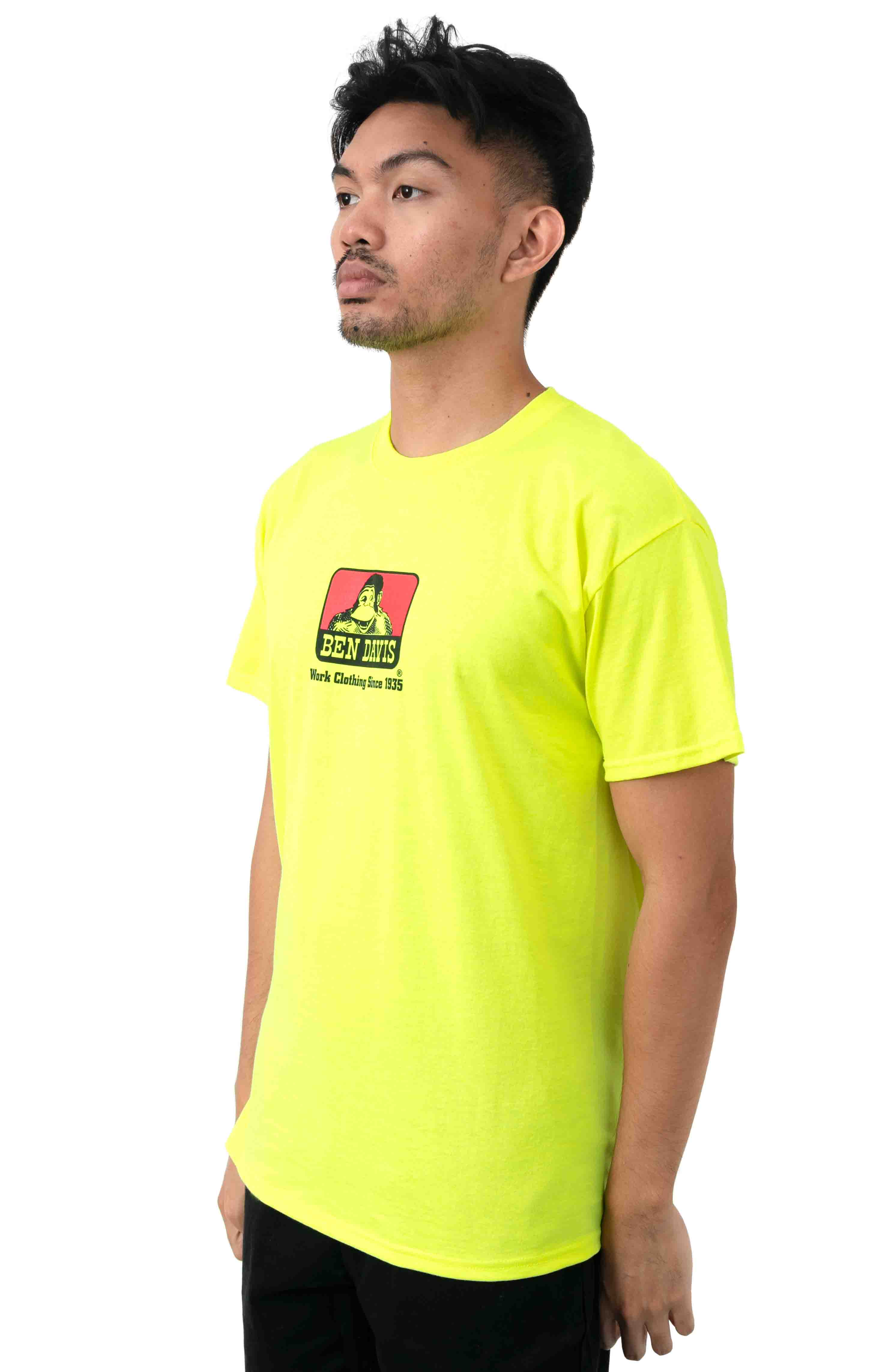 Classic Logo T-Shirt - Safety Green  2