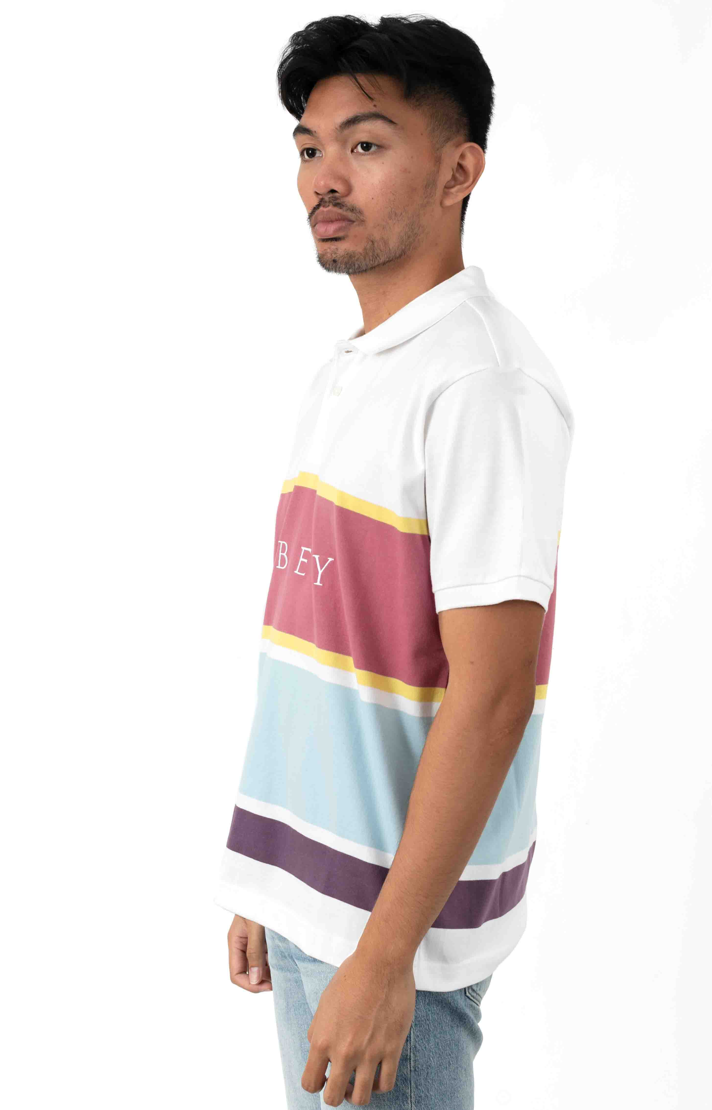 Pledge Polo - White Multi 2
