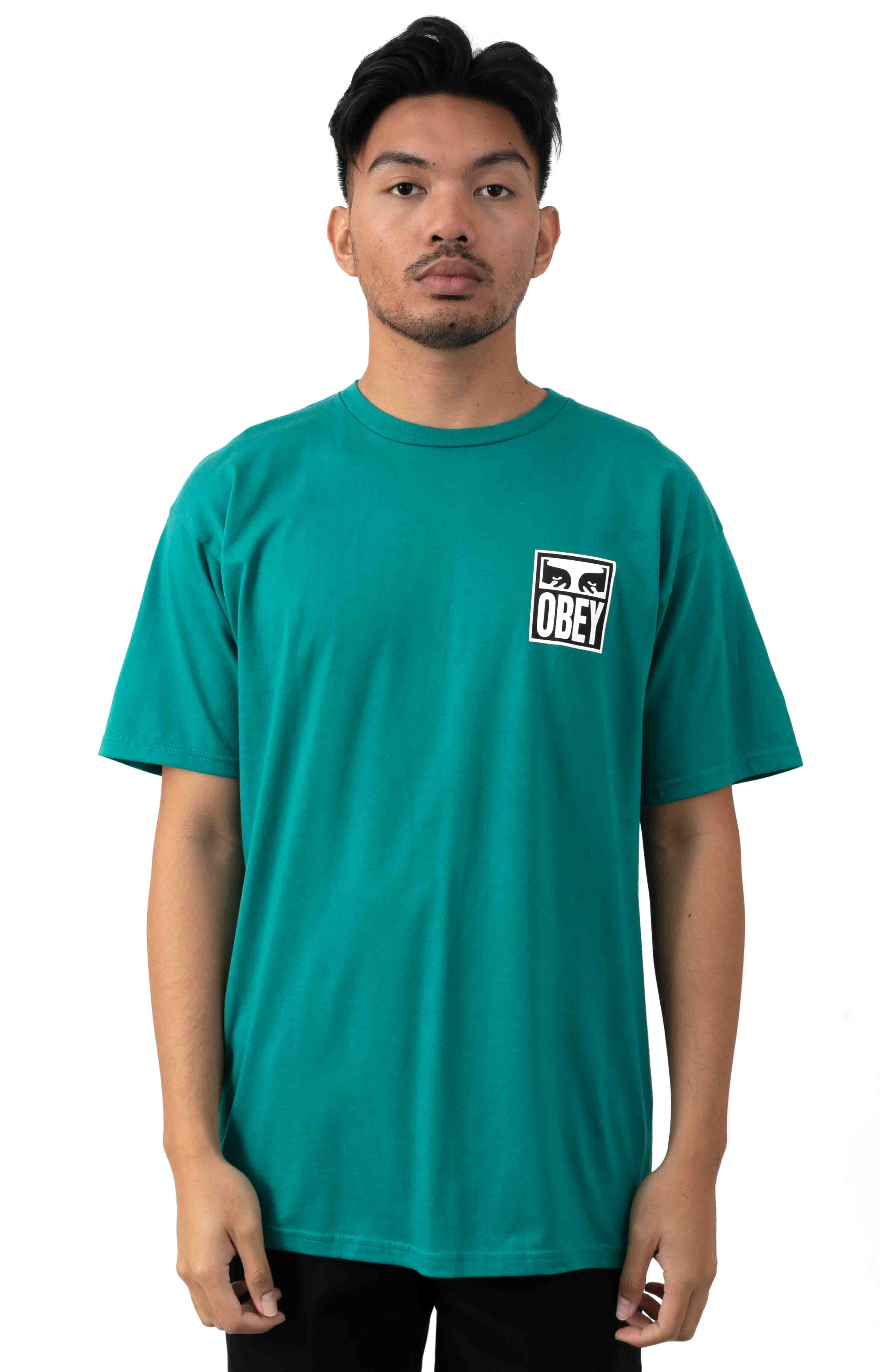 Obey Eyes Icon 2  T-Shirt - Teal