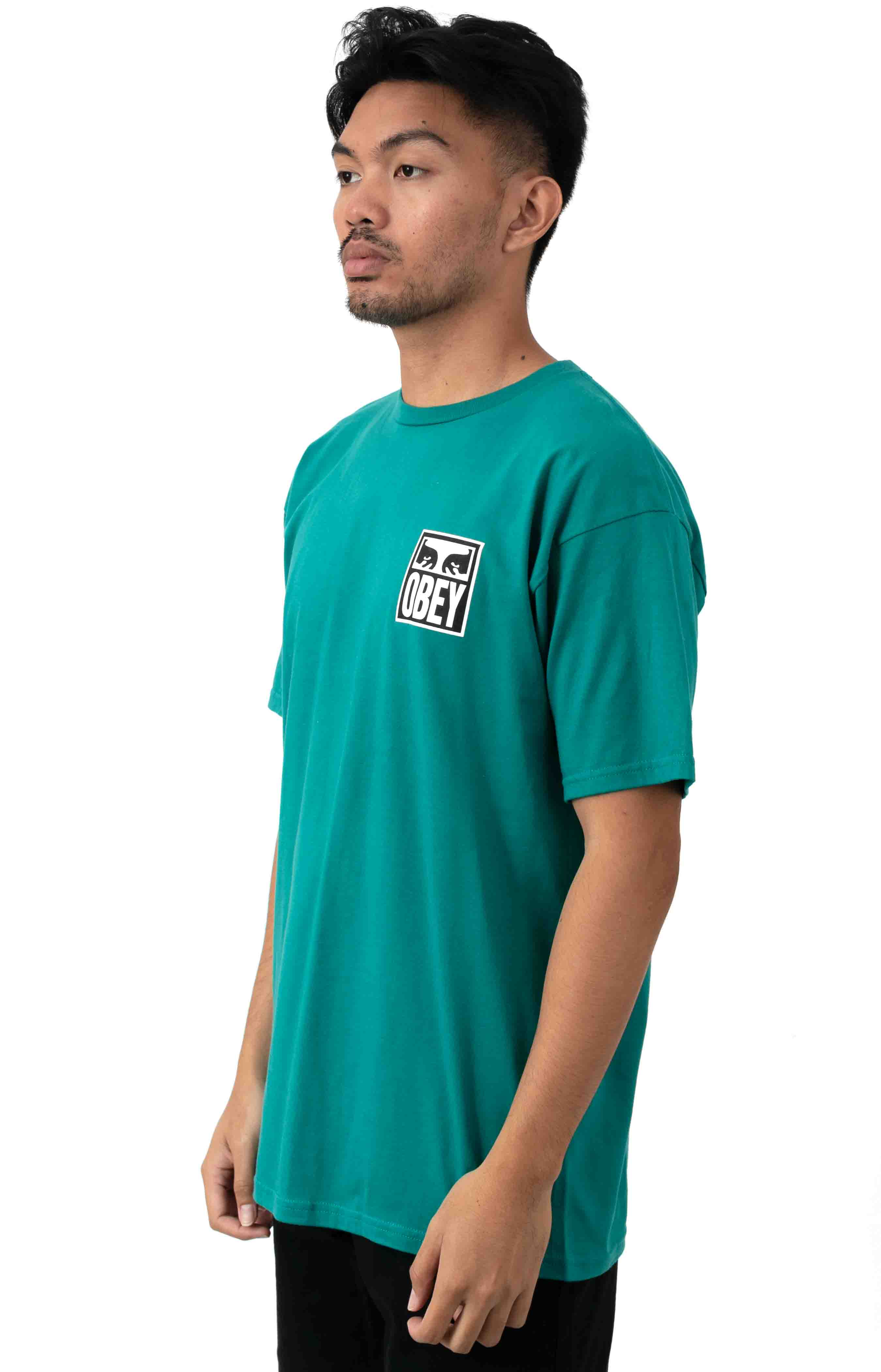 Obey Eyes Icon 2  T-Shirt - Teal 2