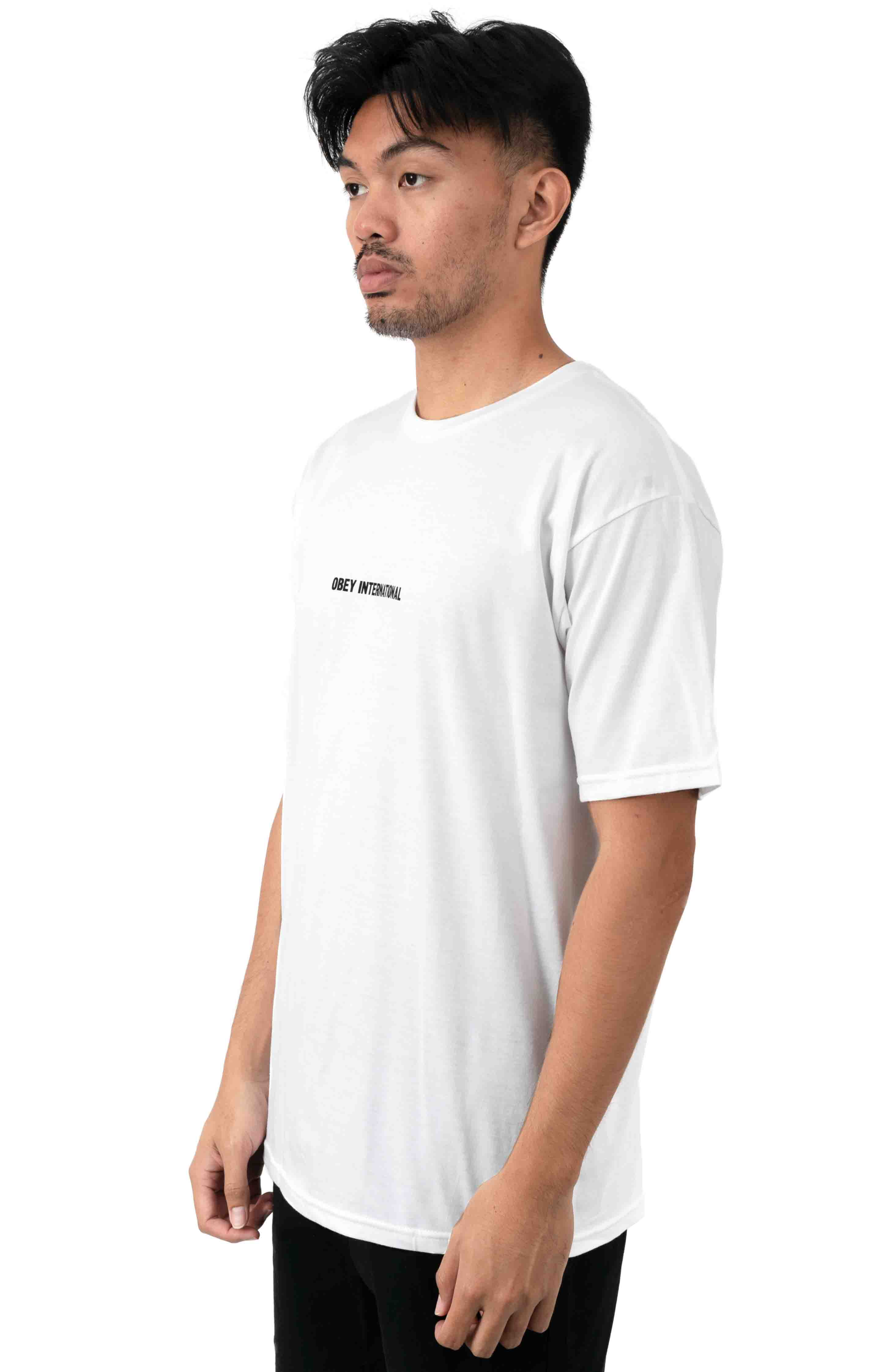 OBEY International Cities T-Shirt - White 3