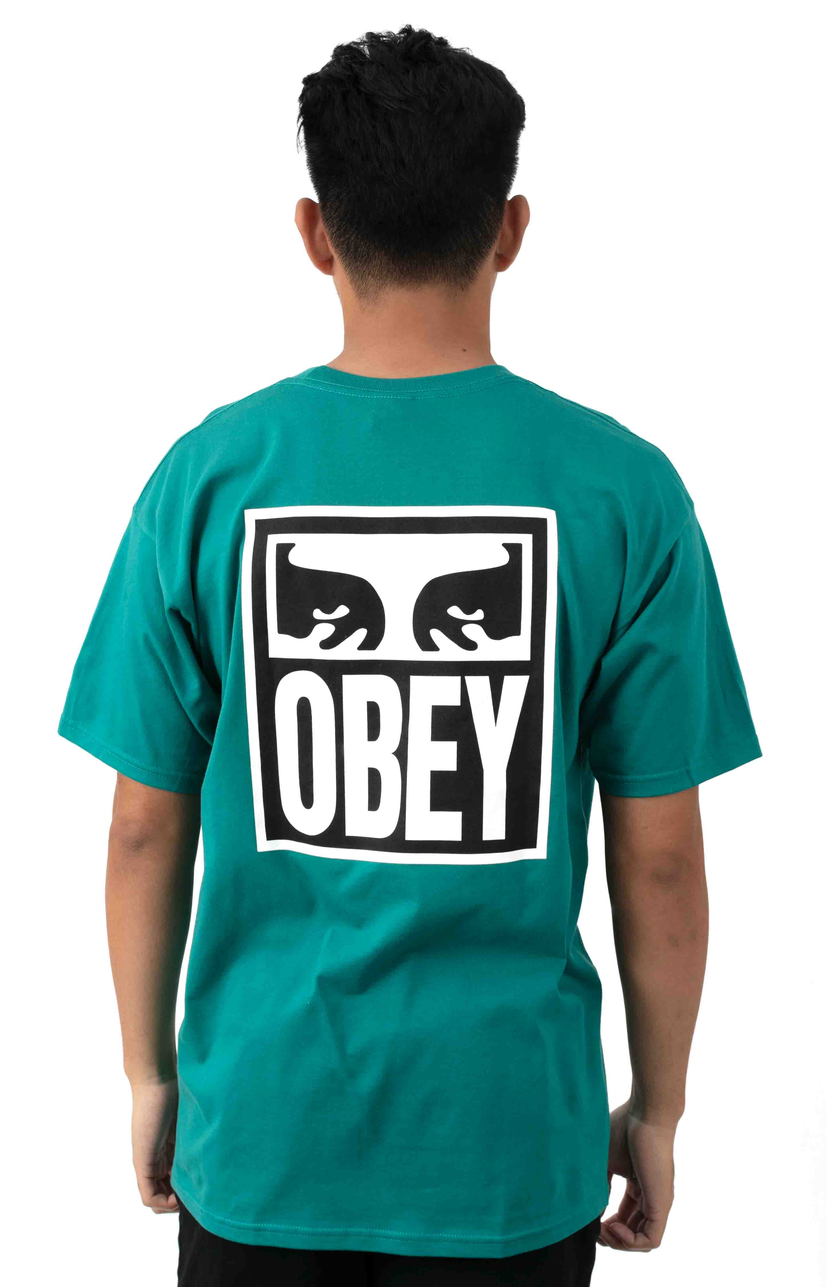 Obey Eyes Icon 2  T-Shirt - Teal 3