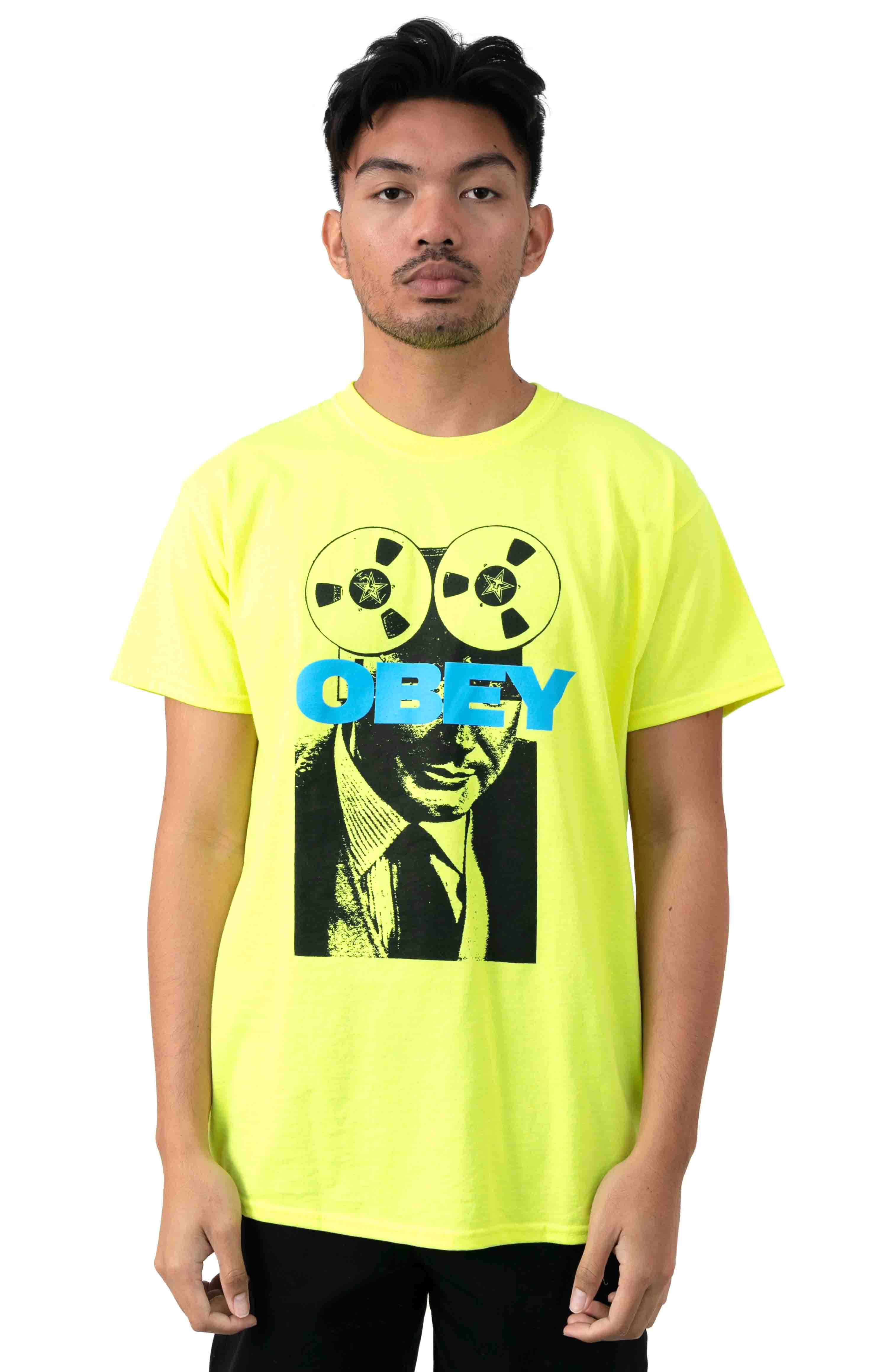 Phone Tap T-Shirt - Safety Green