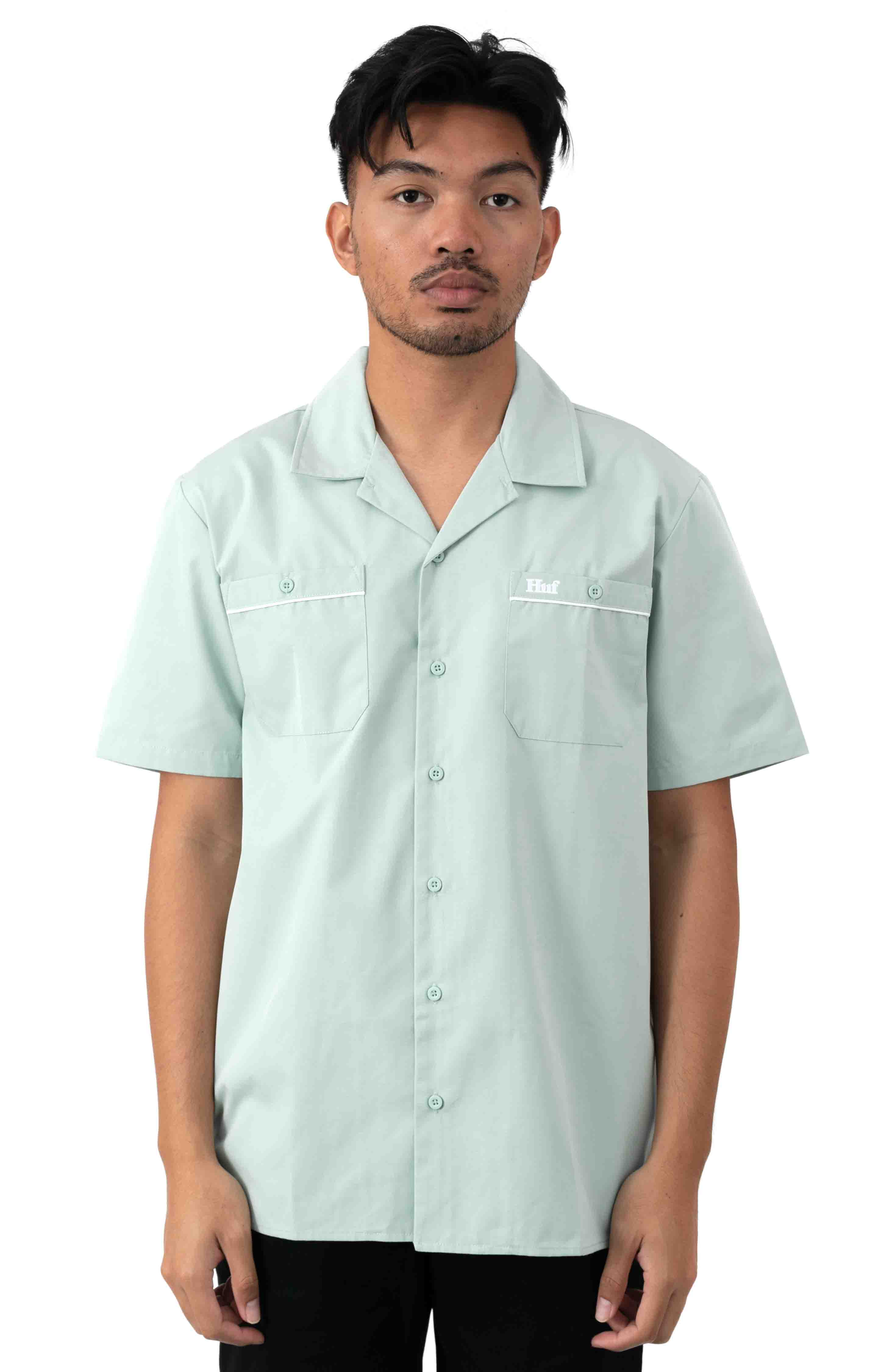 Gas Station Button-Up Shirt - Harbor Grey