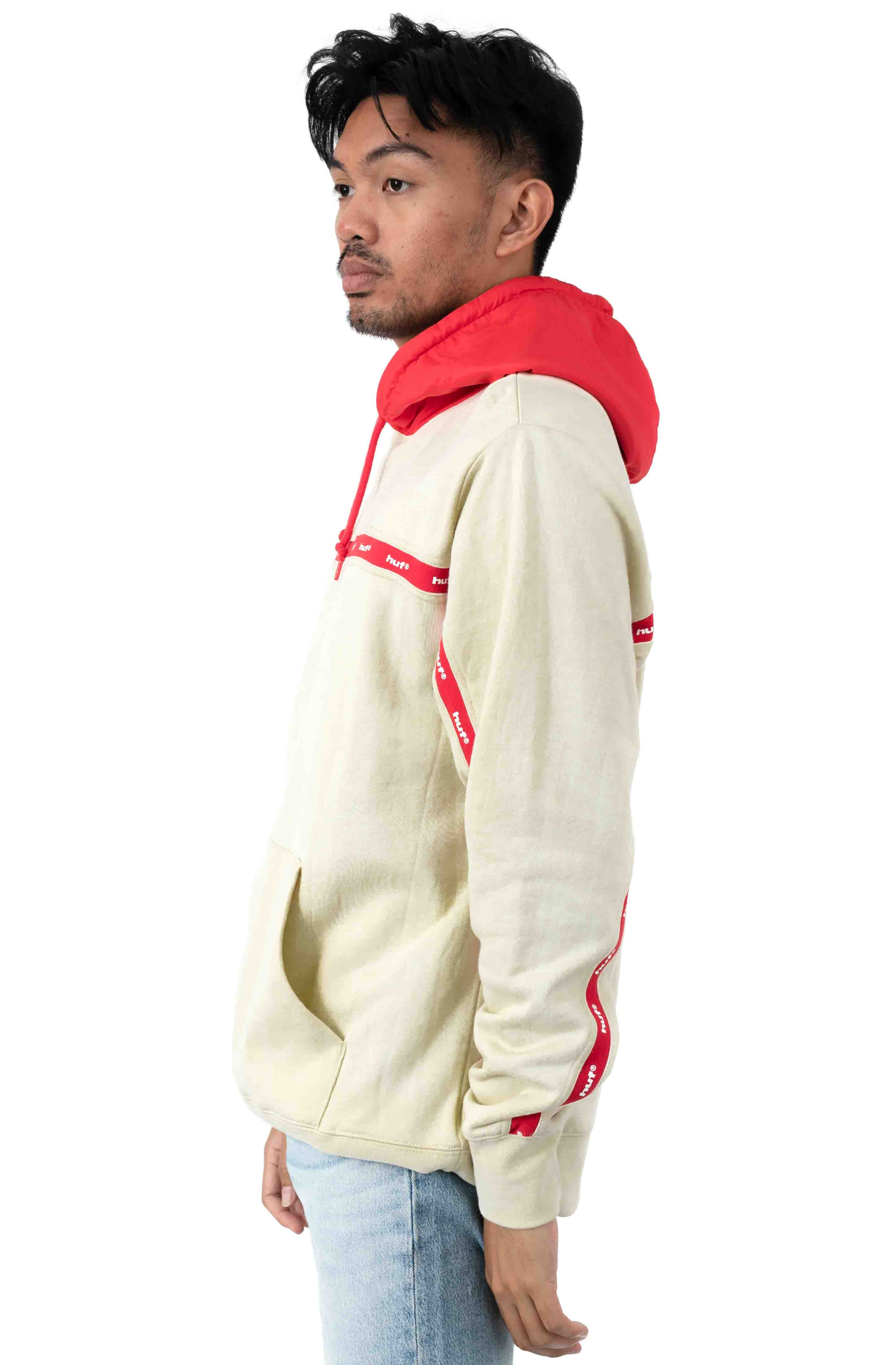 Track Pullover Hoodie - Off White  2
