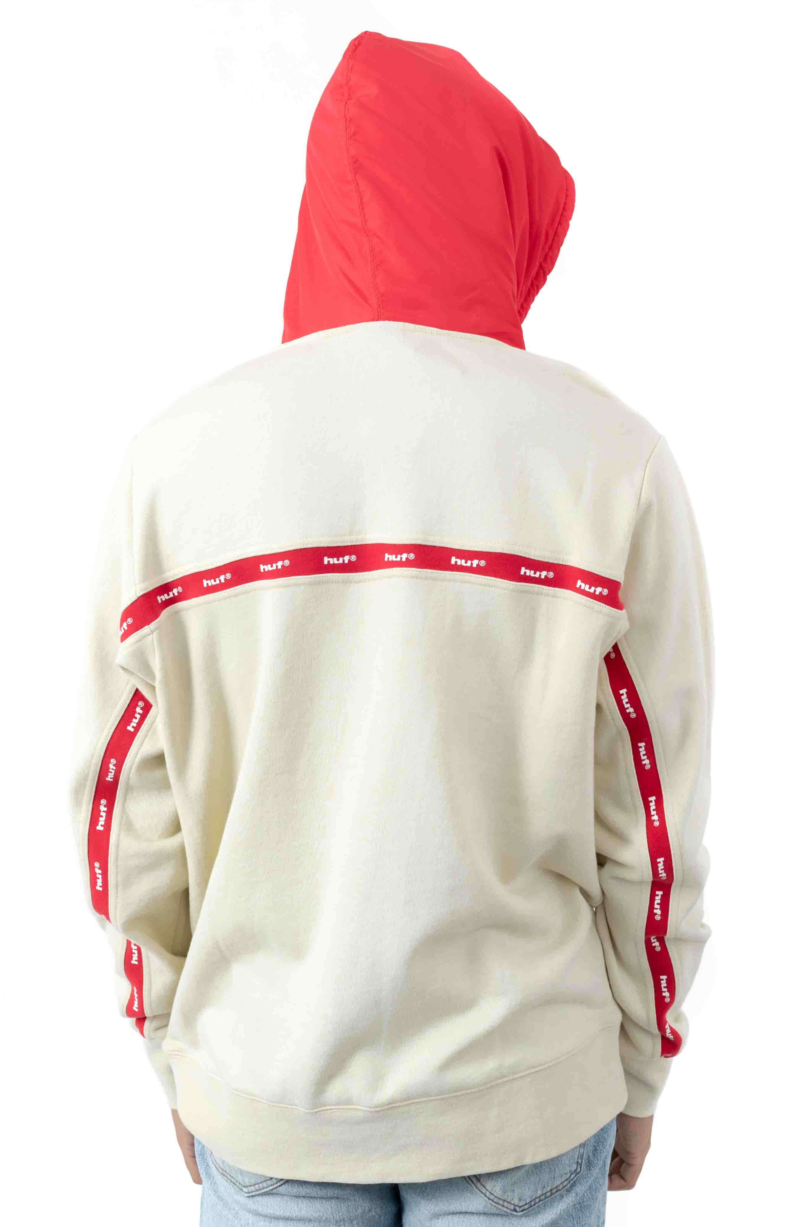 Track Pullover Hoodie - Off White  3