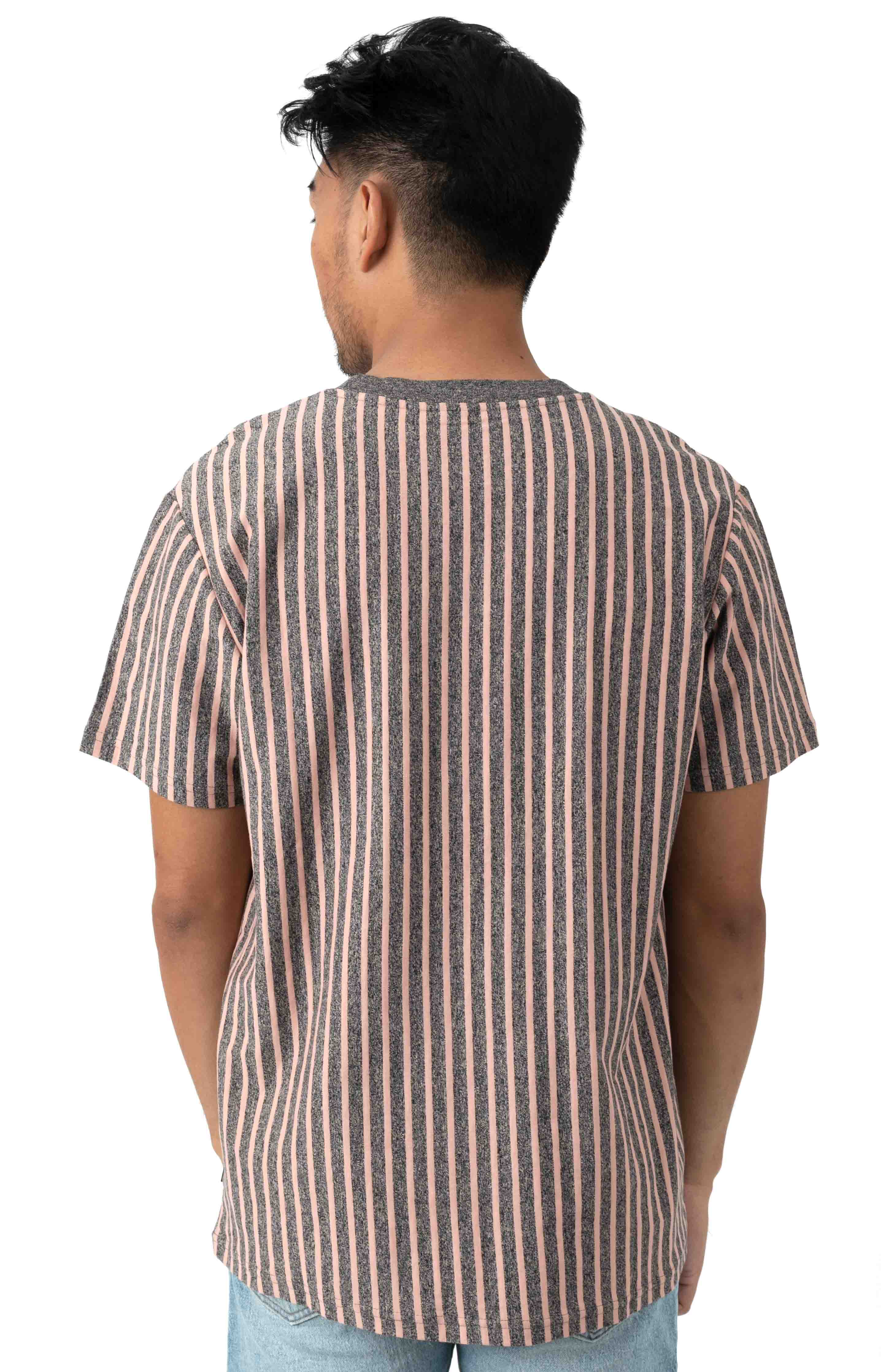 Overdyed Vertical Stripe Shirt - Coral Pink 3