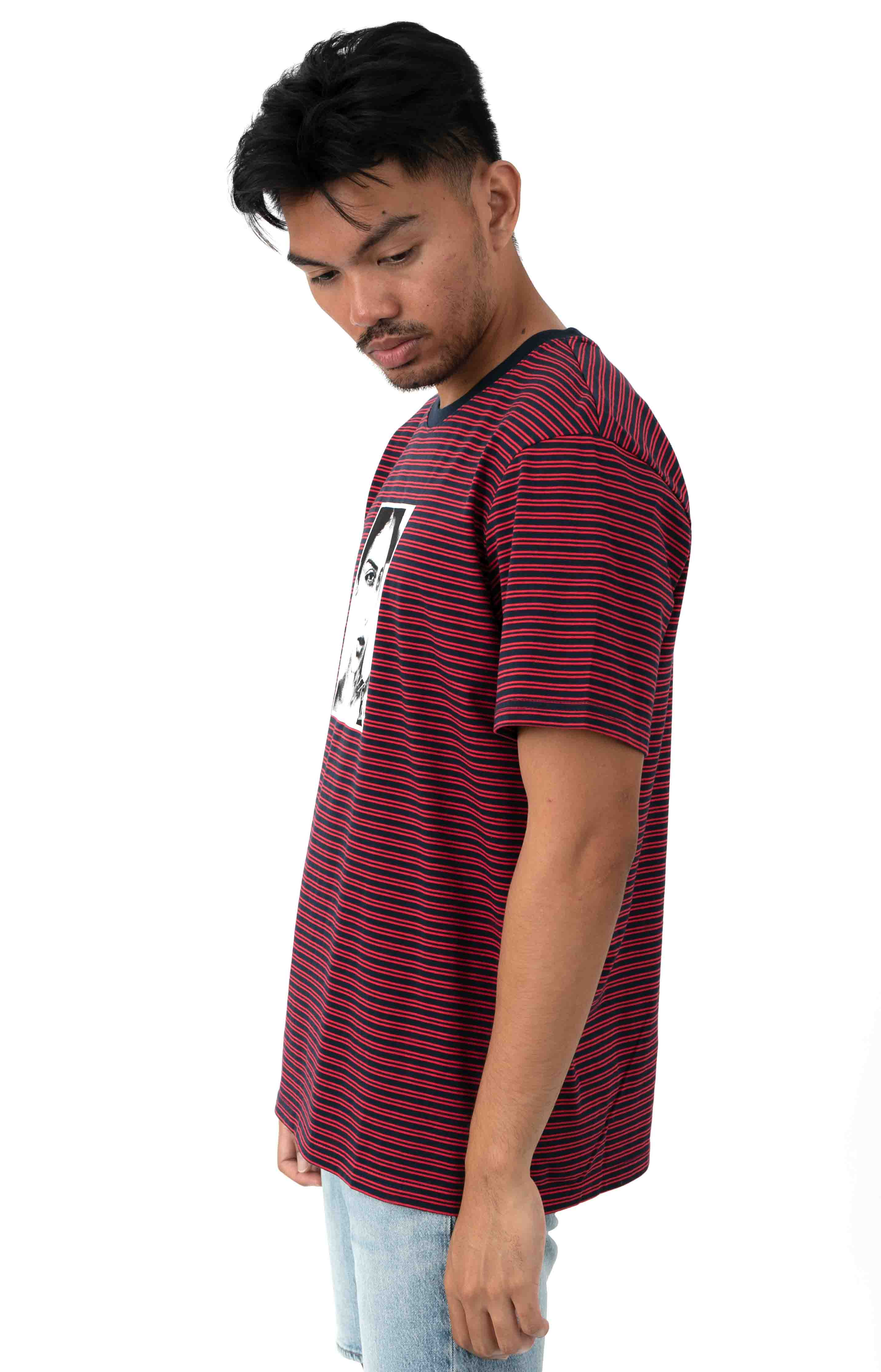 Molly Striped T-Shirt - True Red 2