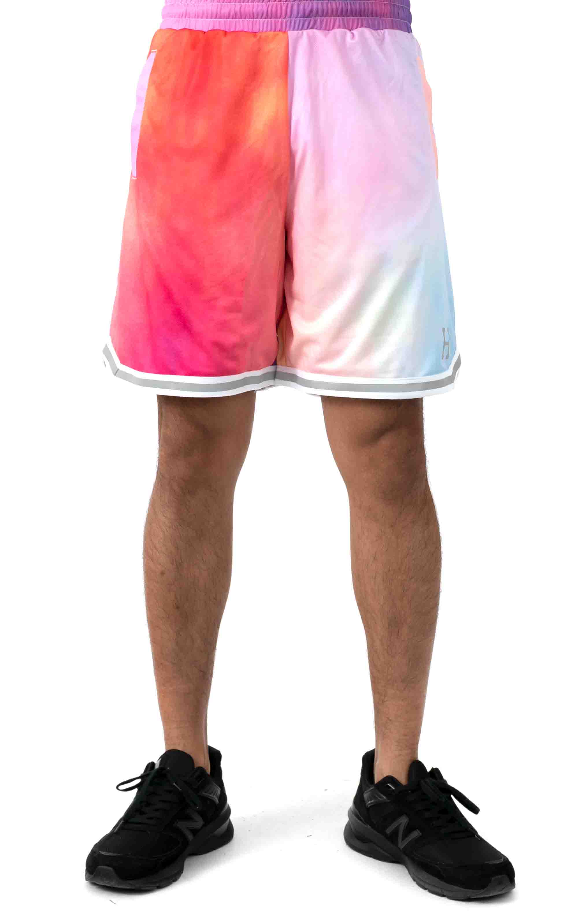Classic H Reflex Basketball Shorts - Coral Pink 2