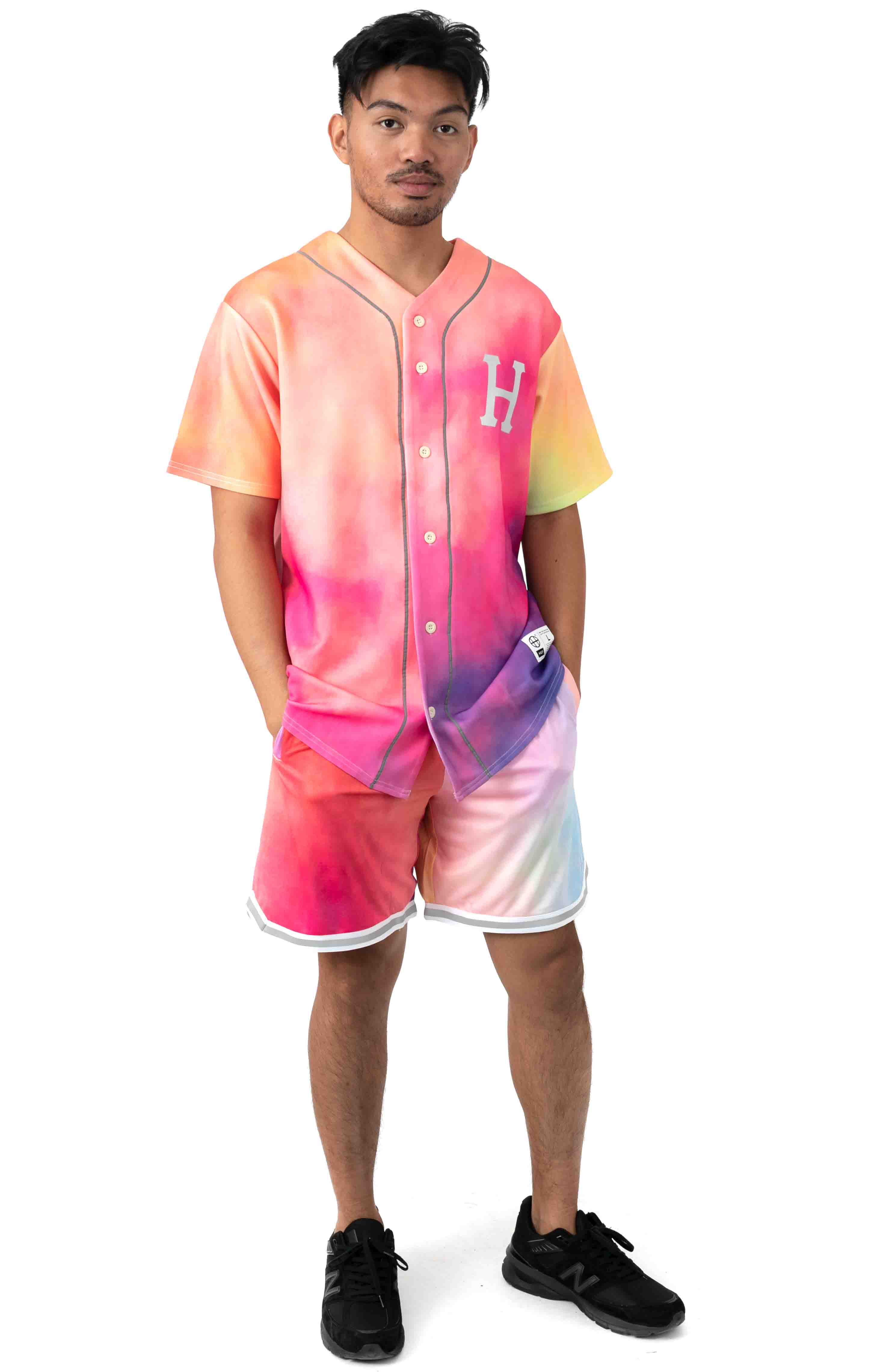 Classic H Reflex Basketball Shorts - Coral Pink 4