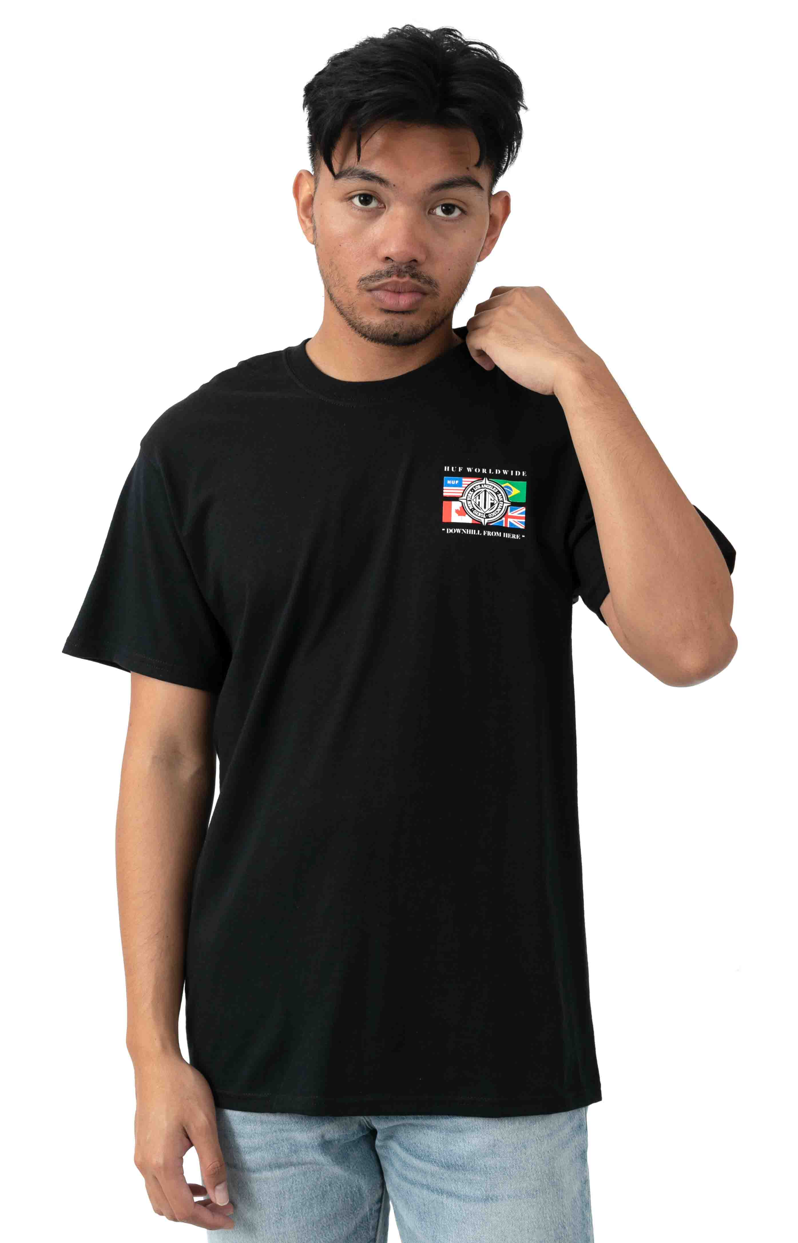 Global Wave T-Shirt - Black  2