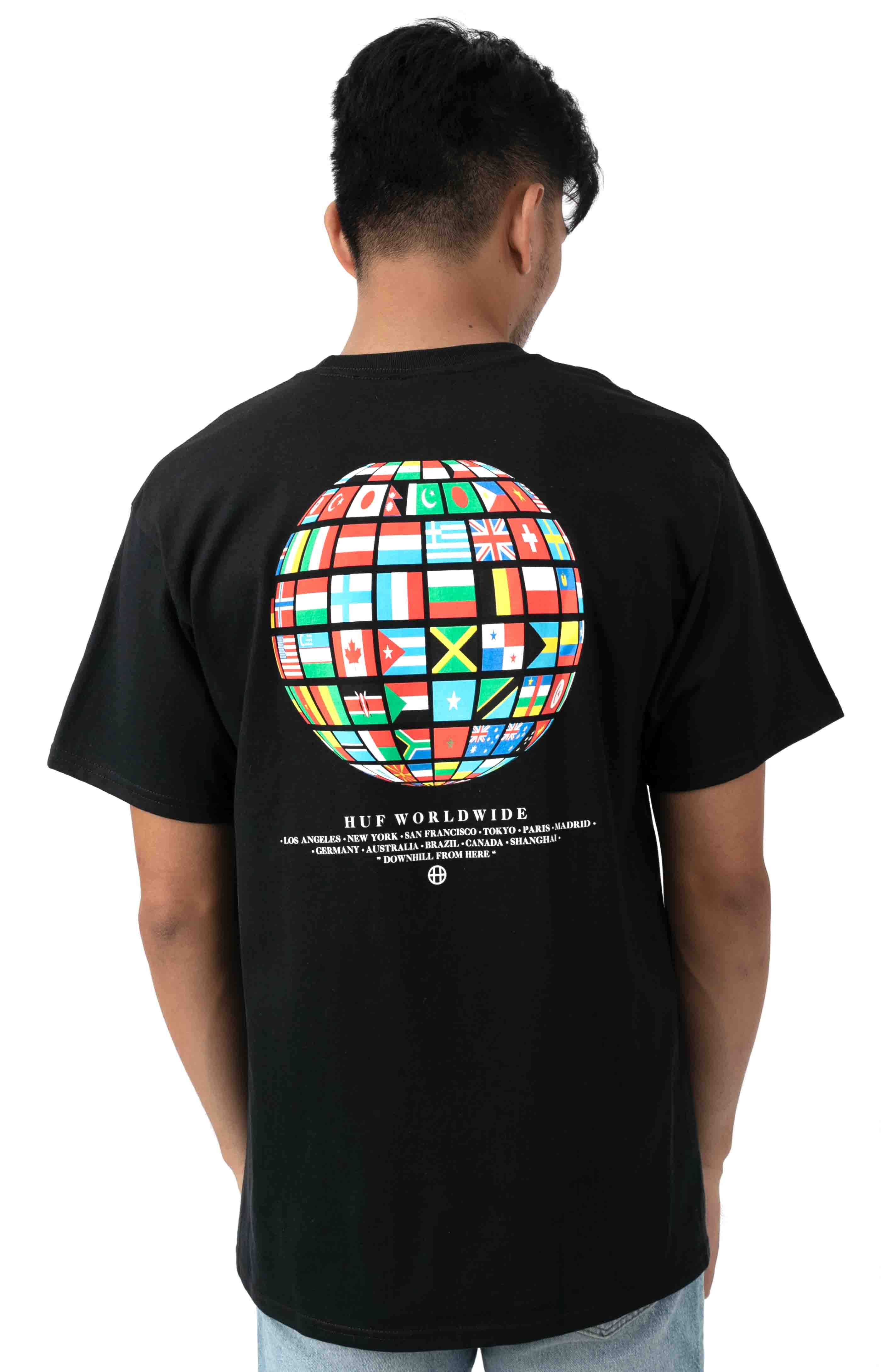 Global Wave T-Shirt - Black