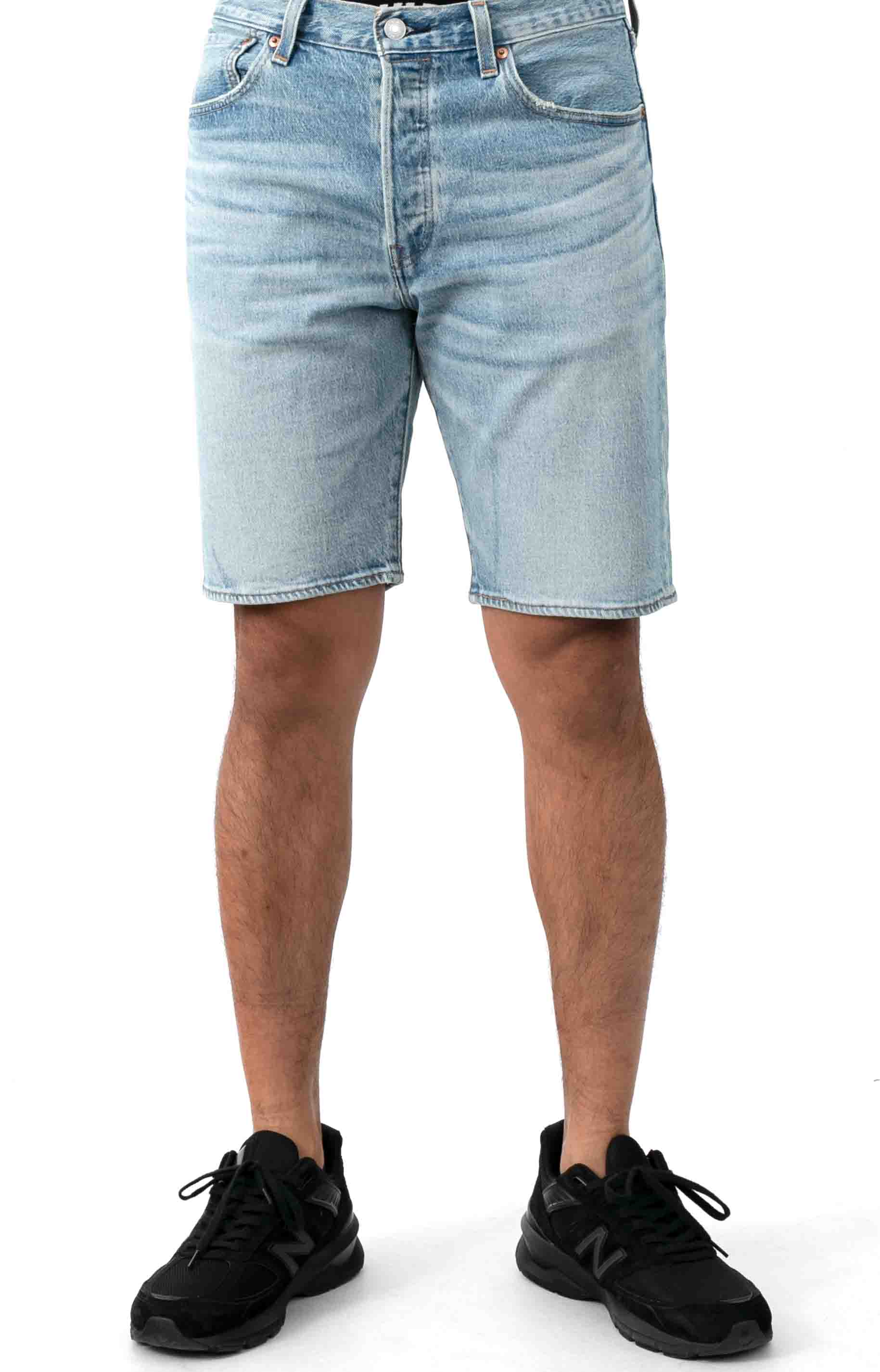 (36512-0100) 501 Hemmed 9 in. Shorts - Wild Boar Light Wash 2
