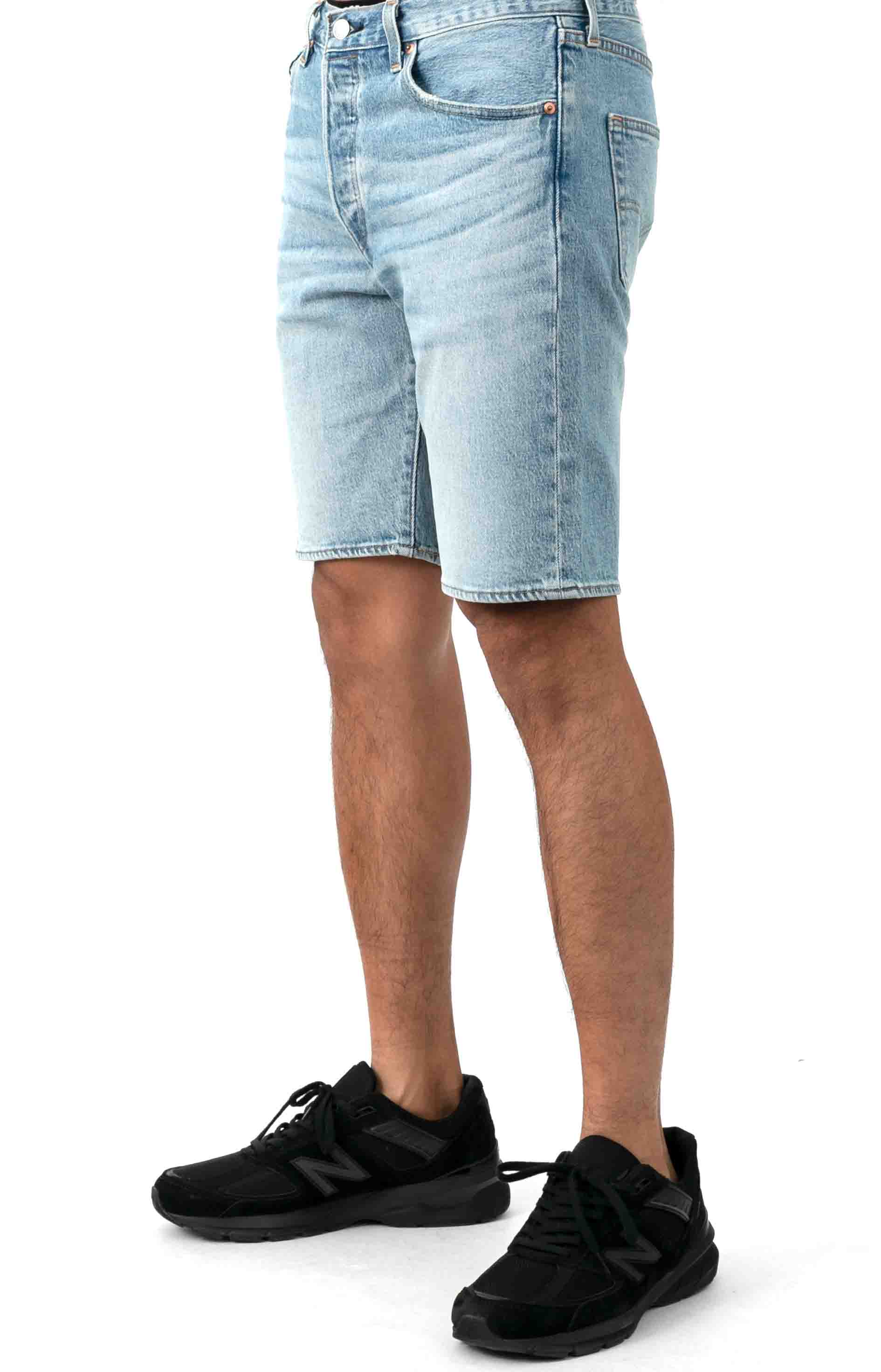 (36512-0100) 501 Hemmed 9 in. Shorts - Wild Boar Light Wash