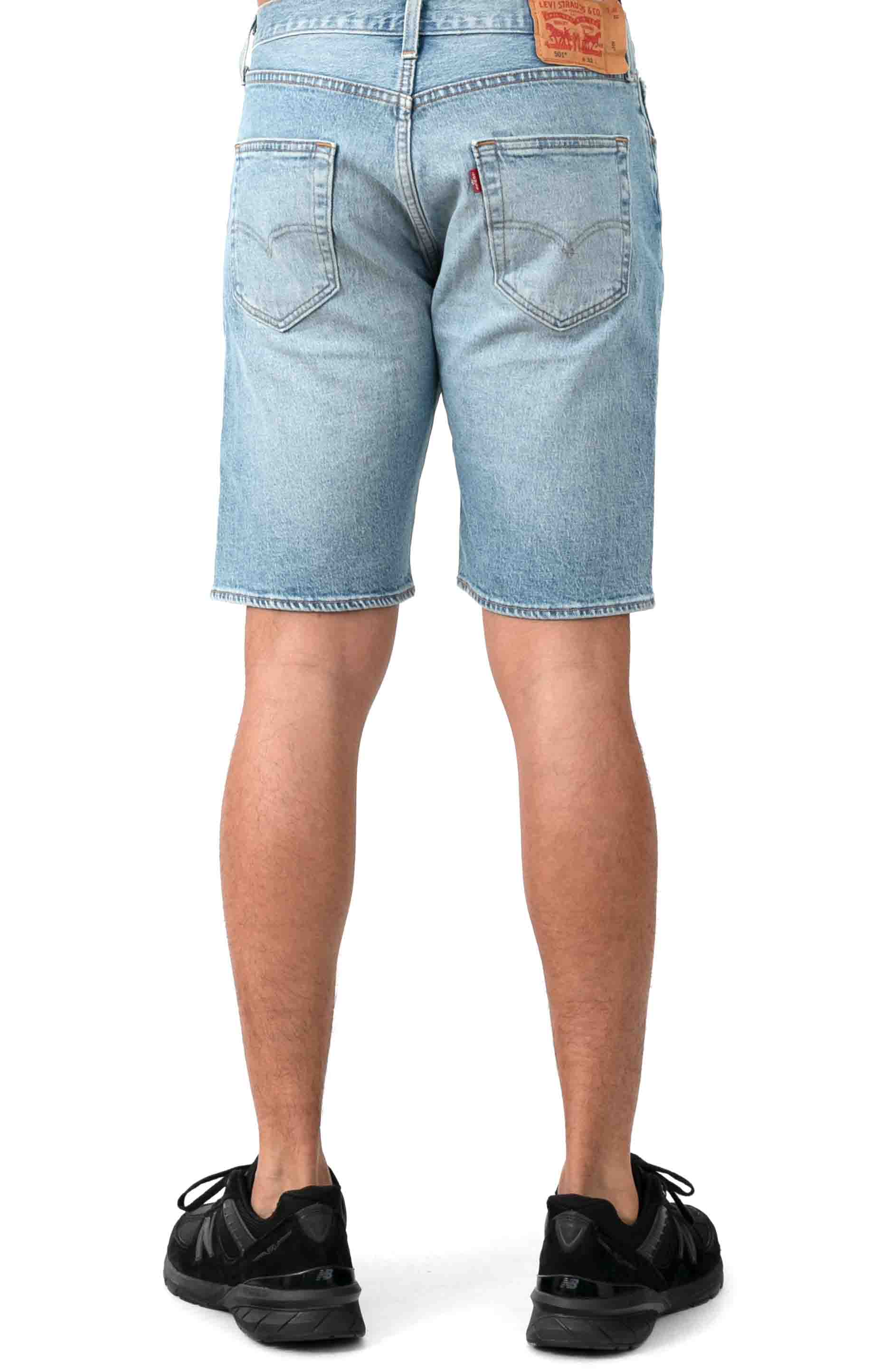 (36512-0100) 501 Hemmed 9 in. Shorts - Wild Boar Light Wash 3