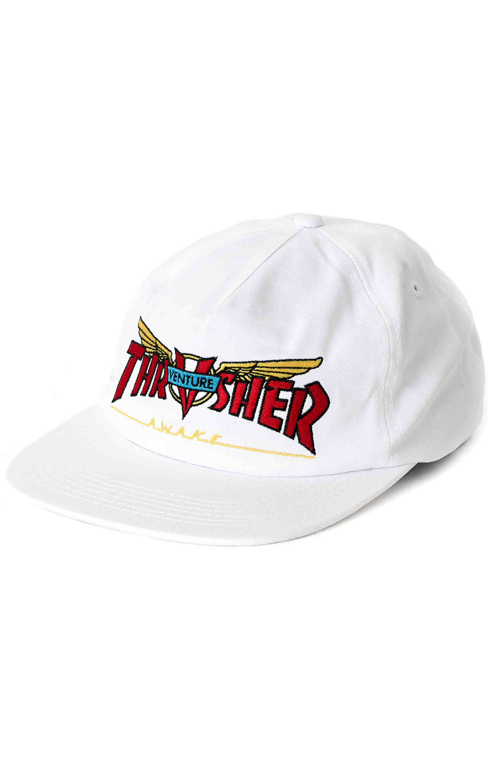 Venture Collab Snap-Back Hat - White