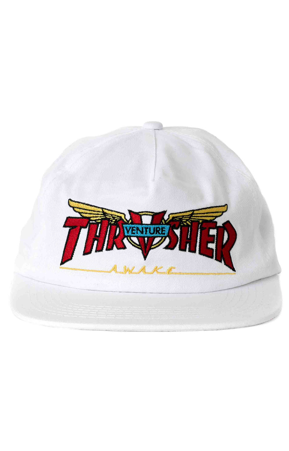 Venture Collab Snap-Back Hat - White  2