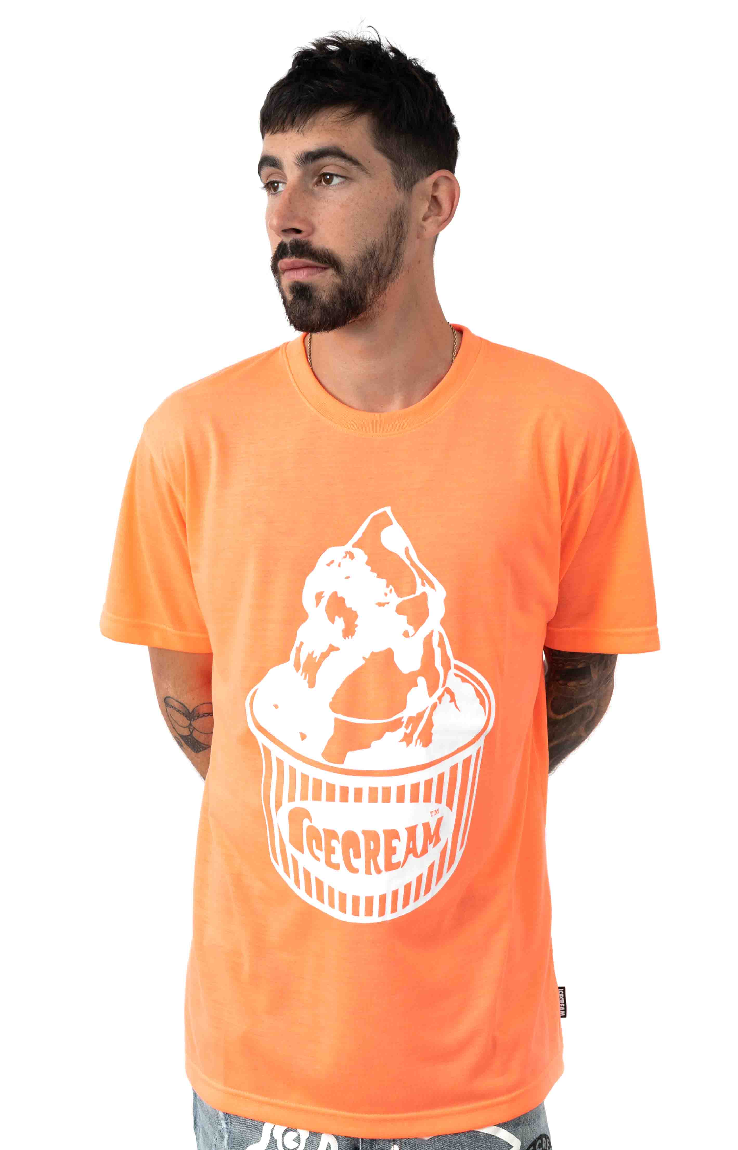 Cup T-Shirt - Neon Coral