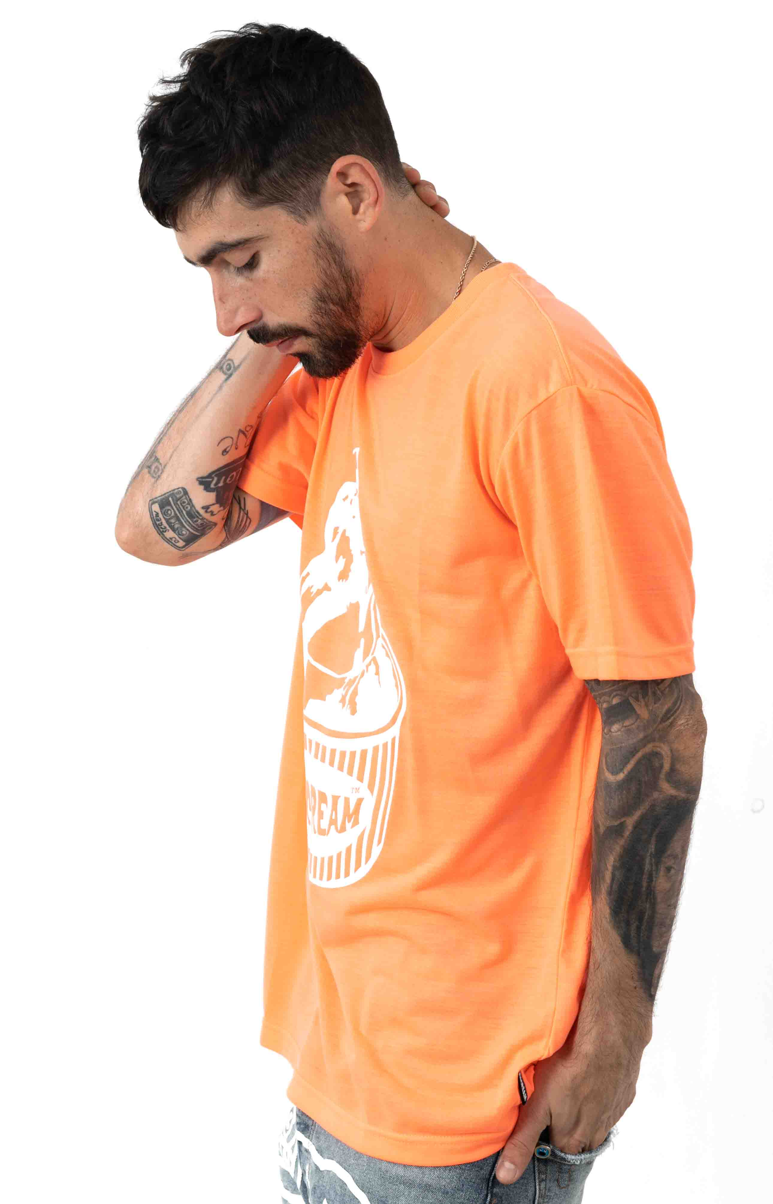 Cup T-Shirt - Neon Coral  2