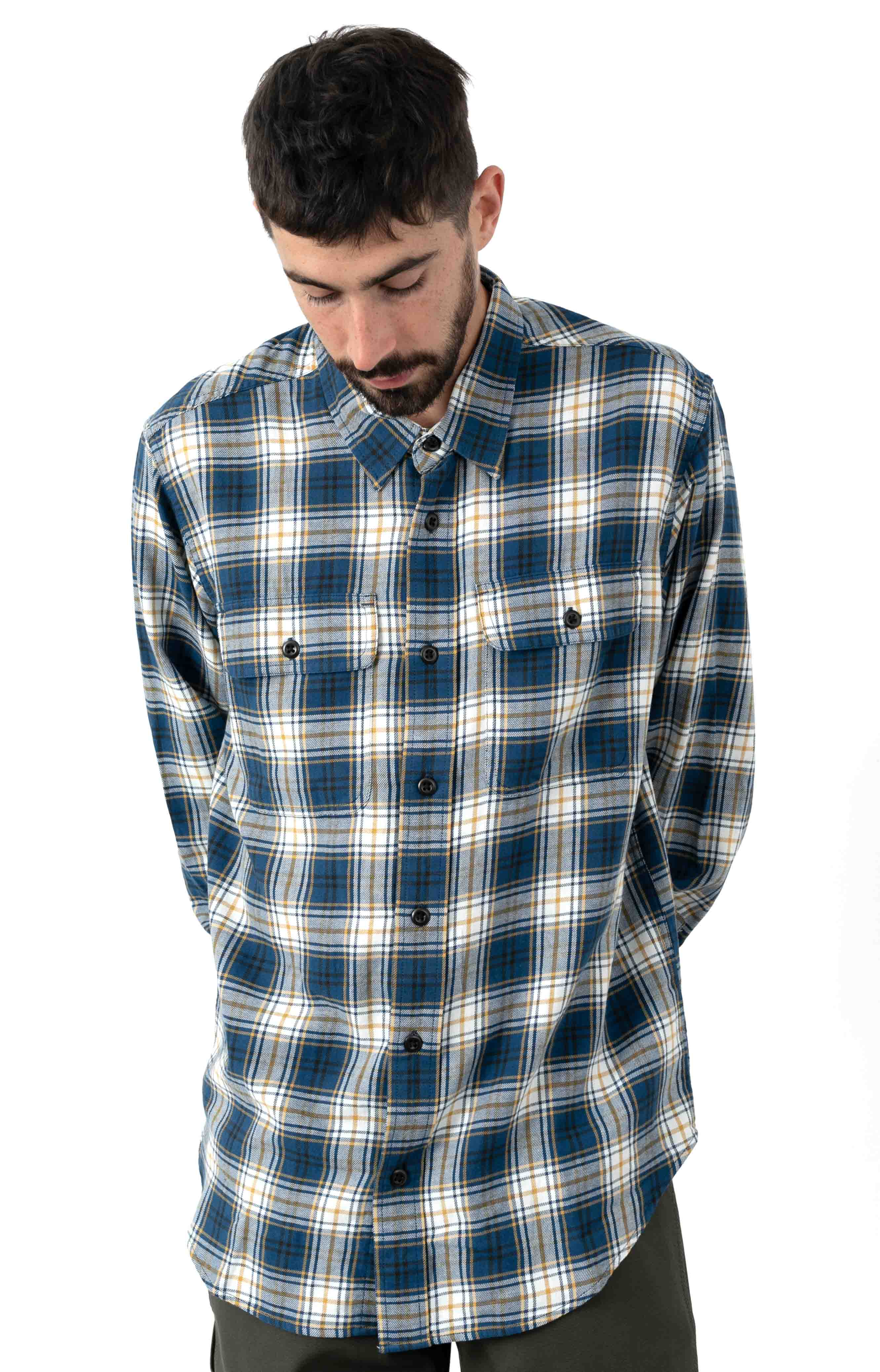 Scout Button-Up Shirt - Blue/Gold/White