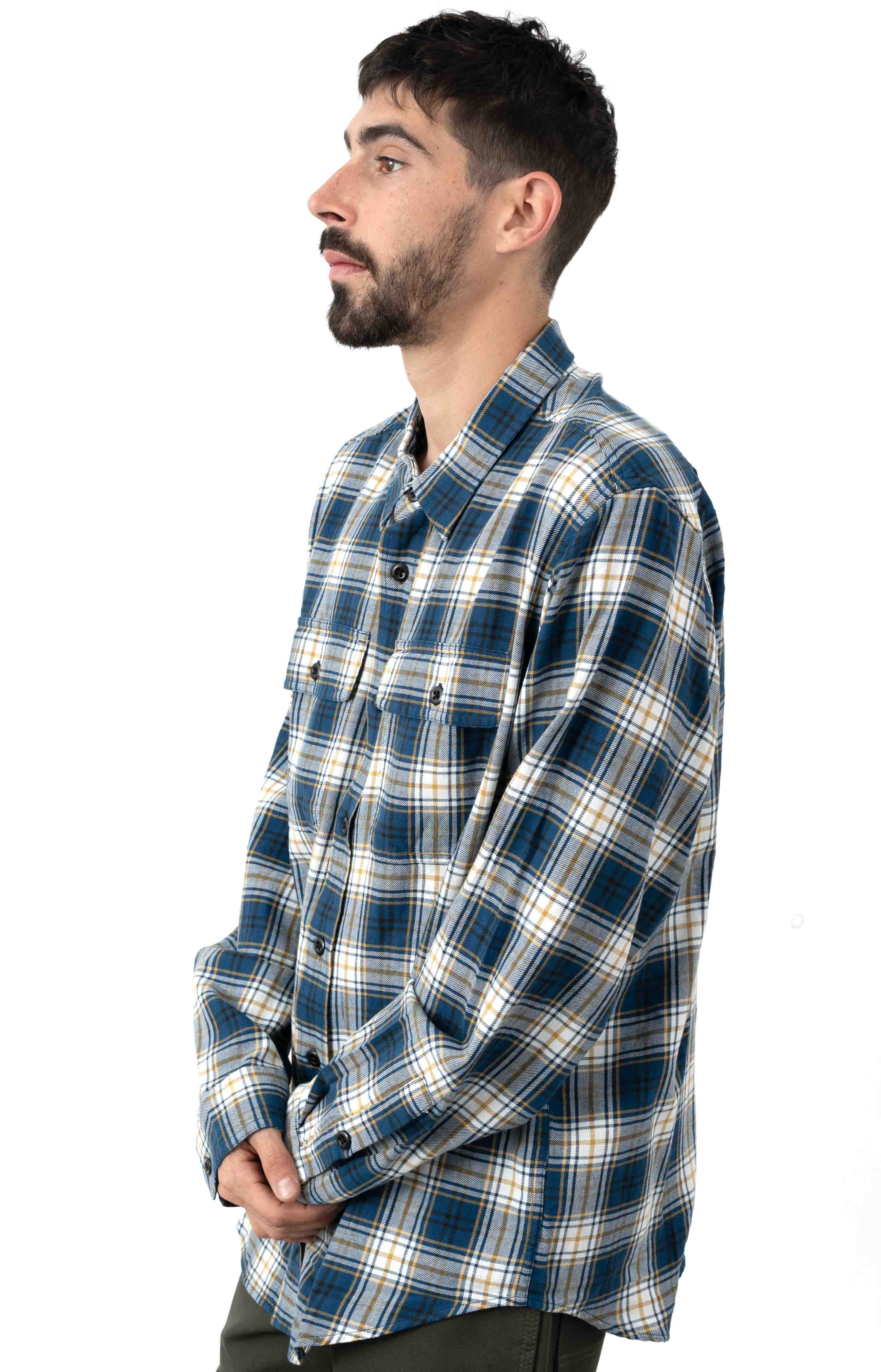 Scout Button-Up Shirt - Blue/Gold/White  2