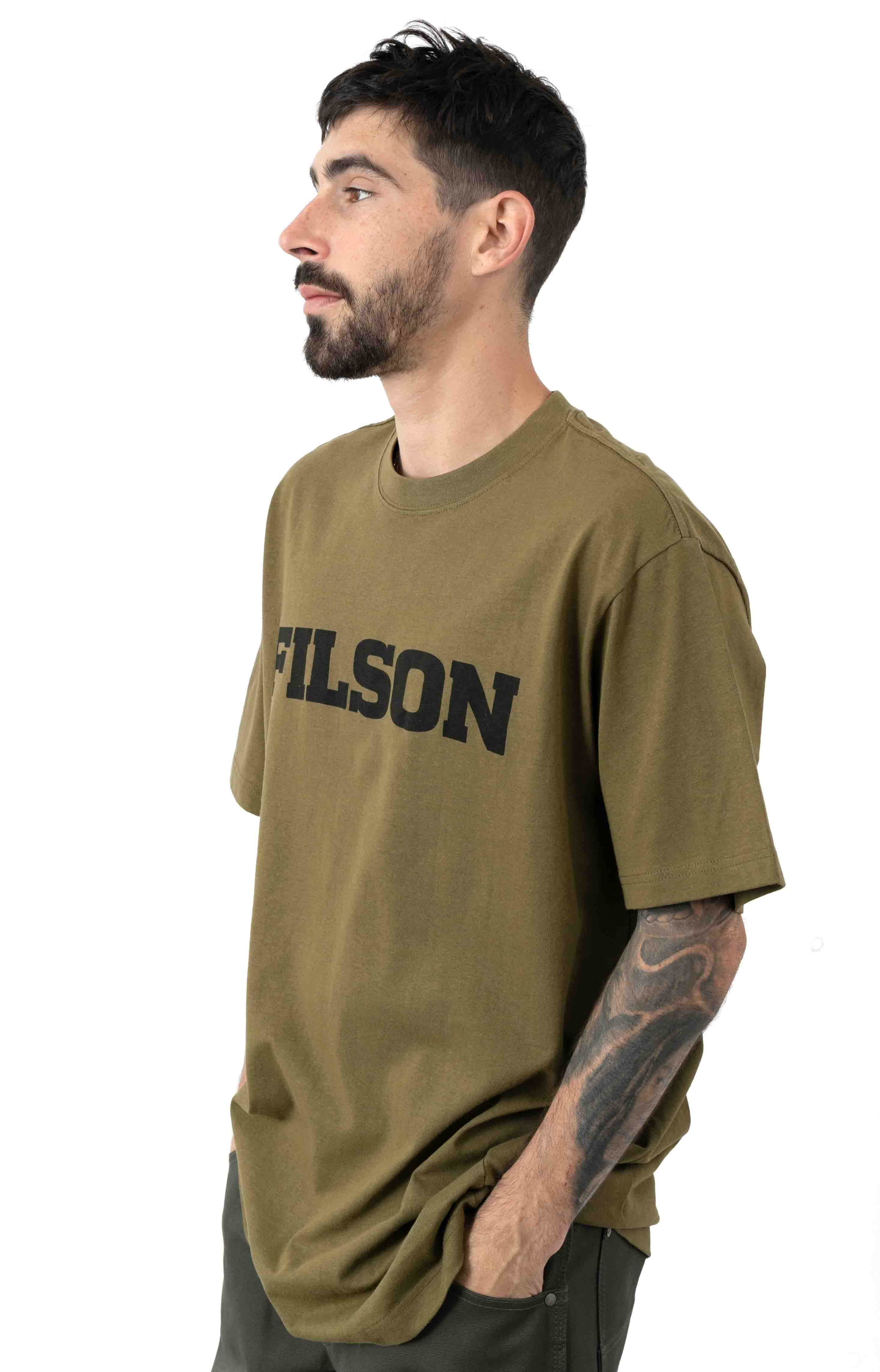 S/S Outfitter Graphic T-Shirt - Olive Drab  2