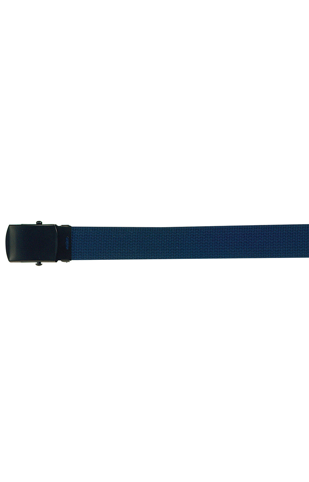 (4294) Military Web Belt With Black Buckle - Navy