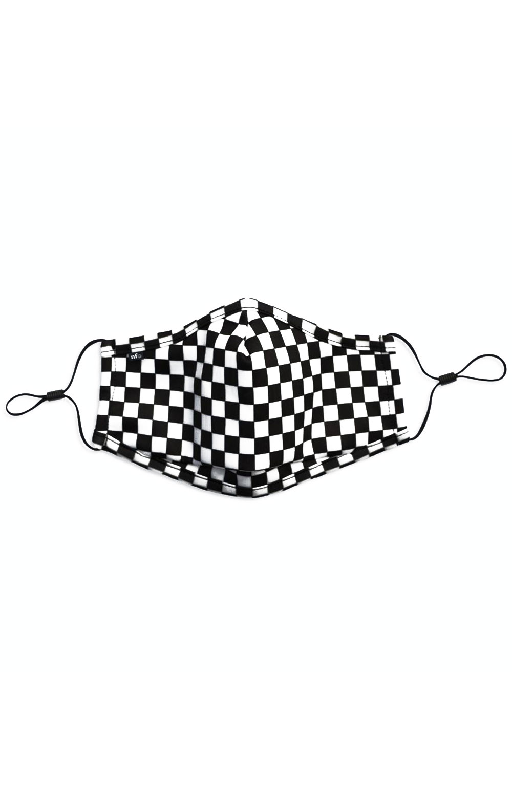 Adult Anti Bacterial Knit Face Mask - Black Checkerboard