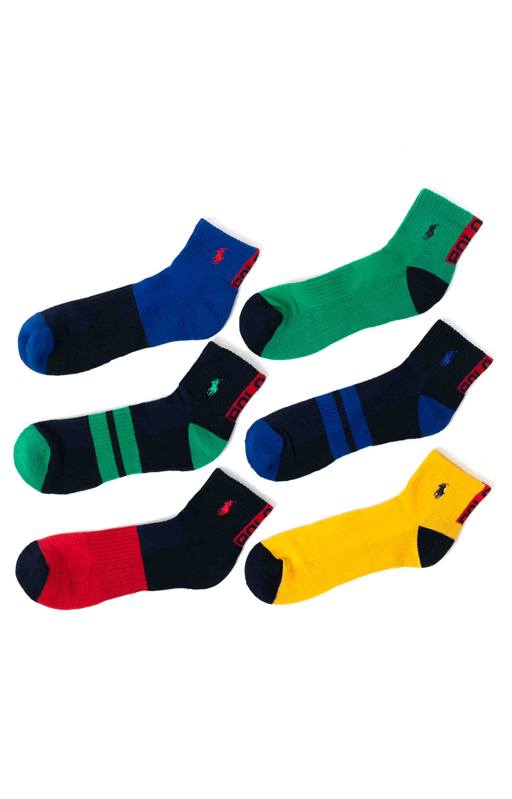 Colorblock Cushioned Quarter Socks - 6 Pack