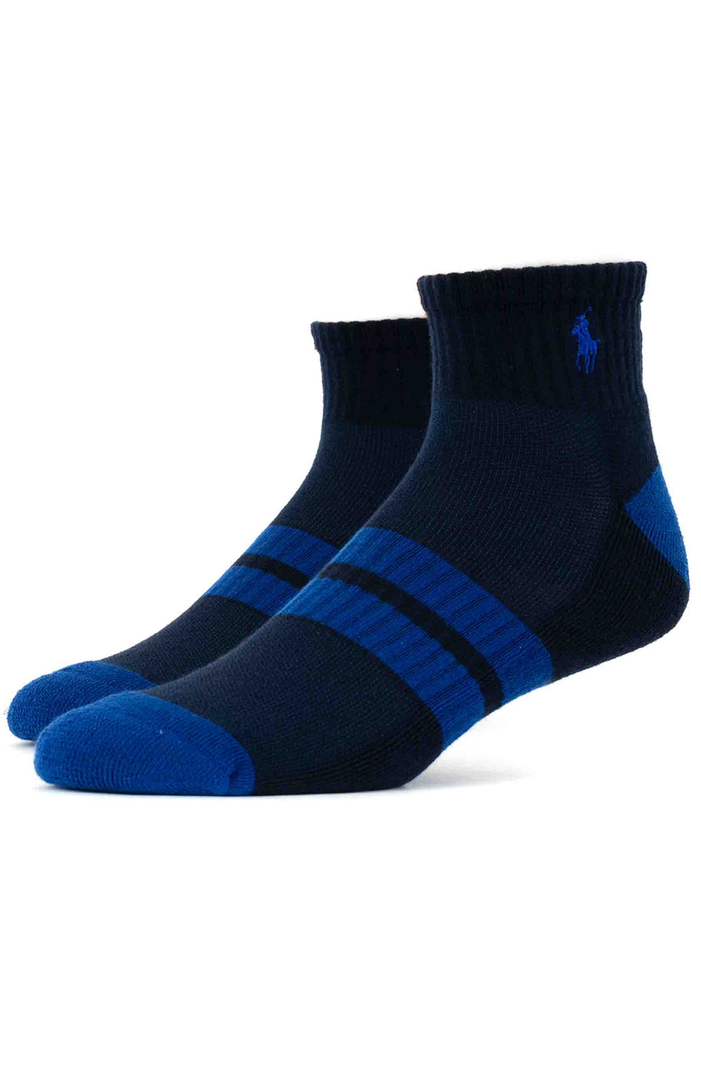 Colorblock Cushioned Quarter Socks - 6 Pack 4