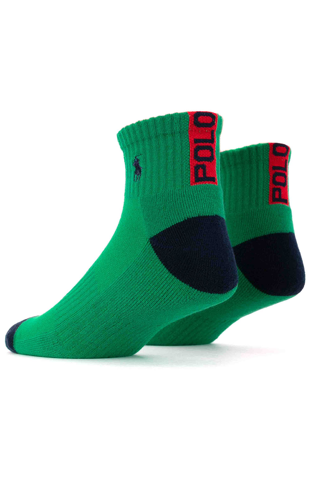 Colorblock Cushioned Quarter Socks - 6 Pack 7