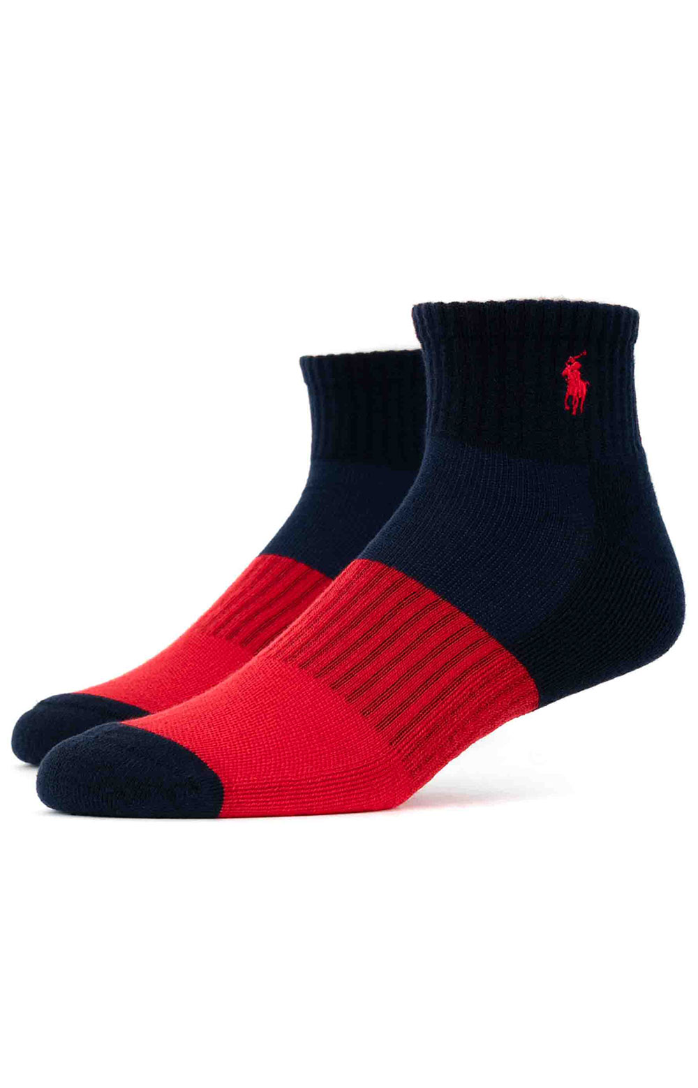 Colorblock Cushioned Quarter Socks - 6 Pack 8