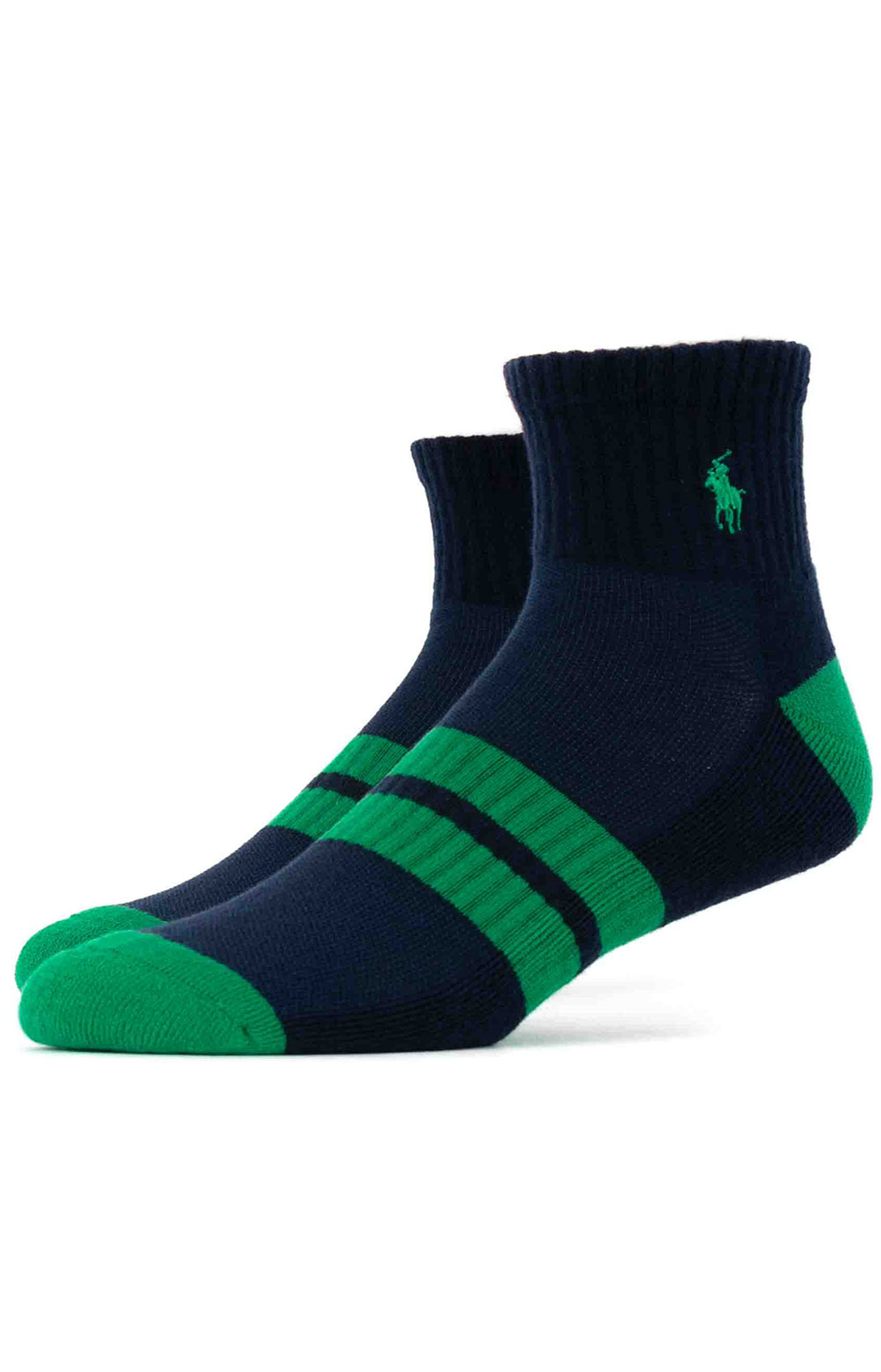 Colorblock Cushioned Quarter Socks - 6 Pack 10