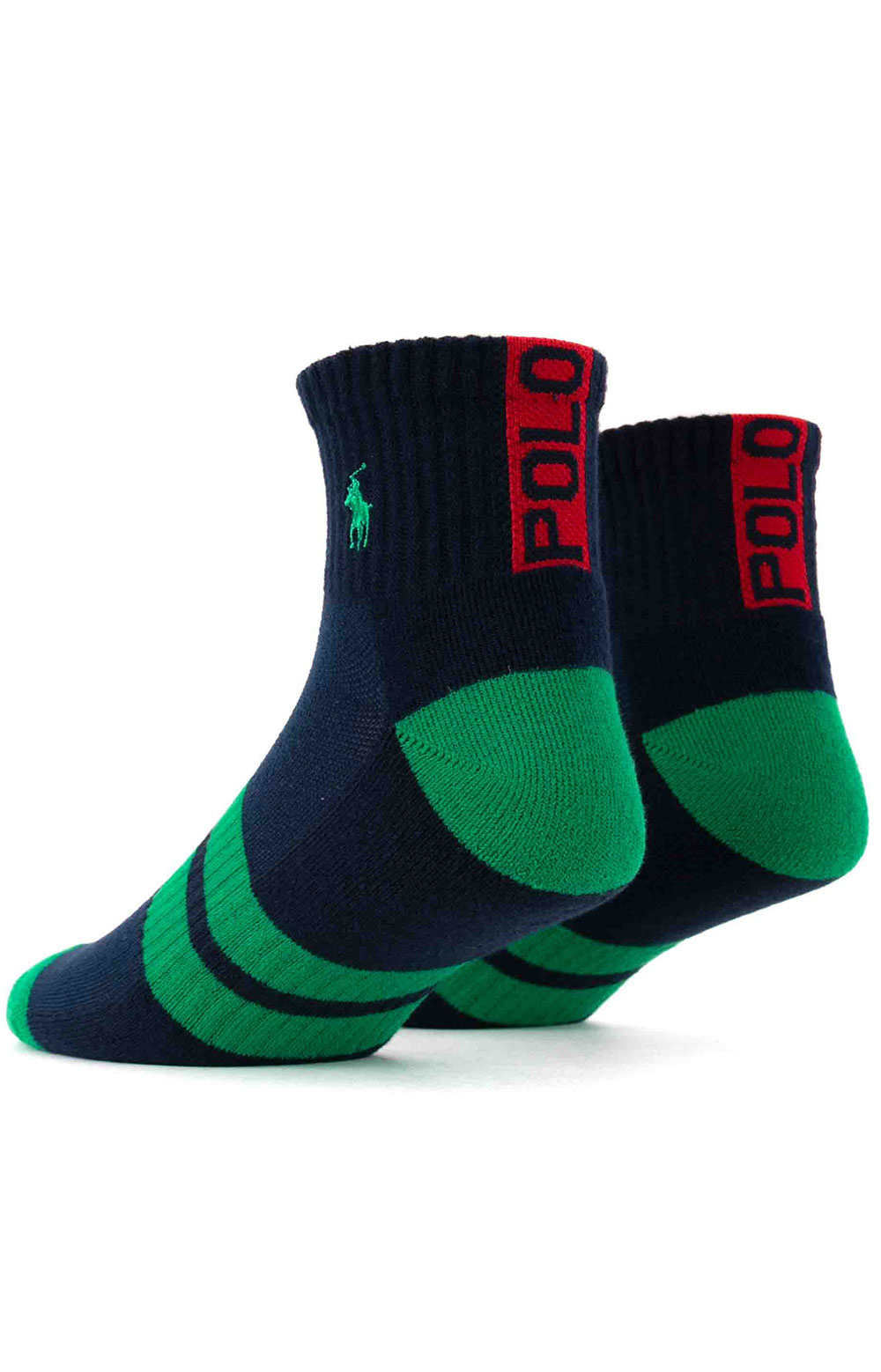 Colorblock Cushioned Quarter Socks - 6 Pack 11