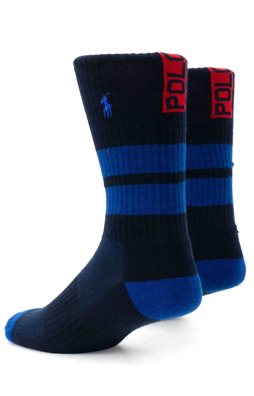 Colorblock Cushioned Crew Socks - 6 Pack 5