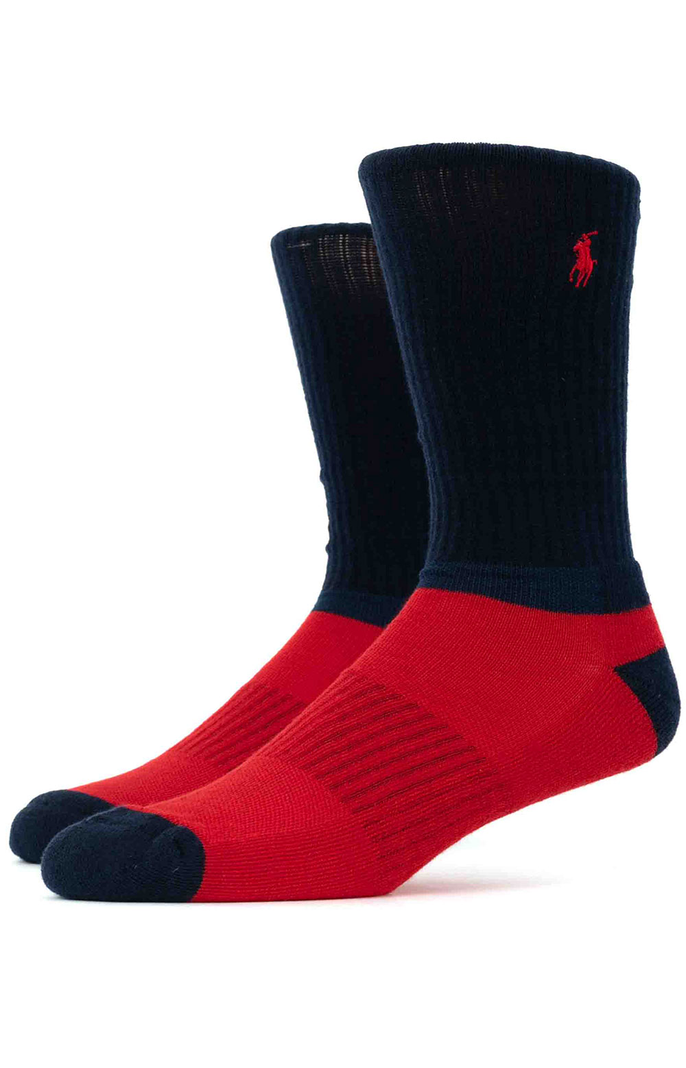 Colorblock Cushioned Crew Socks - 6 Pack 8