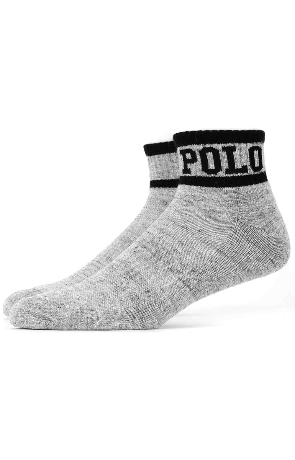 Polo Logo Cushioned Quarter Socks 3 Pack - White Assorted  4