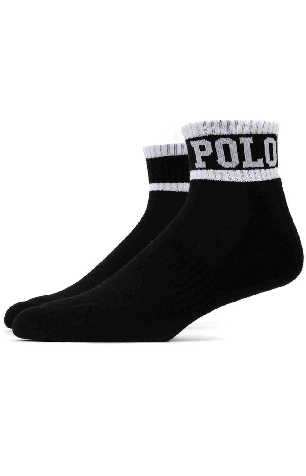 Polo Logo Cushioned Quarter Socks 3 Pack - White Assorted  5