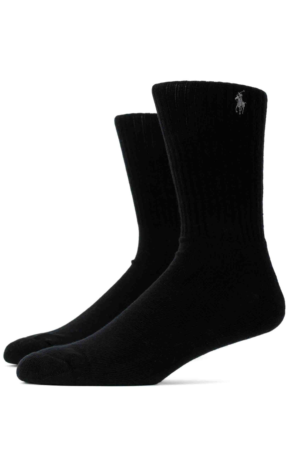 Cushioned Crew Socks 6 Pack - Grey Assorted  2