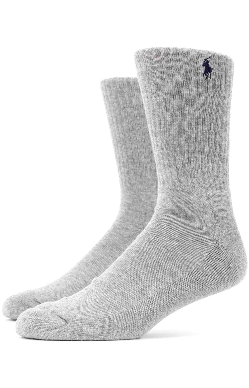 Cushioned Crew Socks 6 Pack - Grey Assorted  3