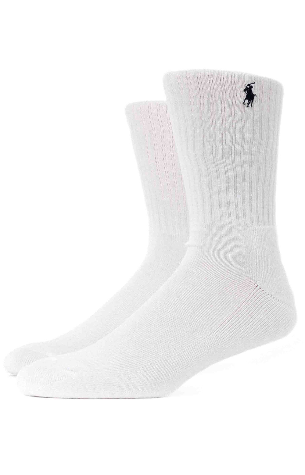 Cushioned Crew Socks 6 Pack - Grey Assorted  4