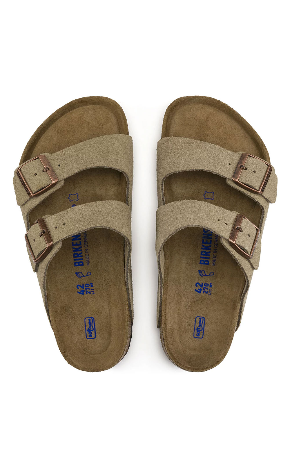 (0951303) Arizona Soft Foodbed Sandals - Taupe 4