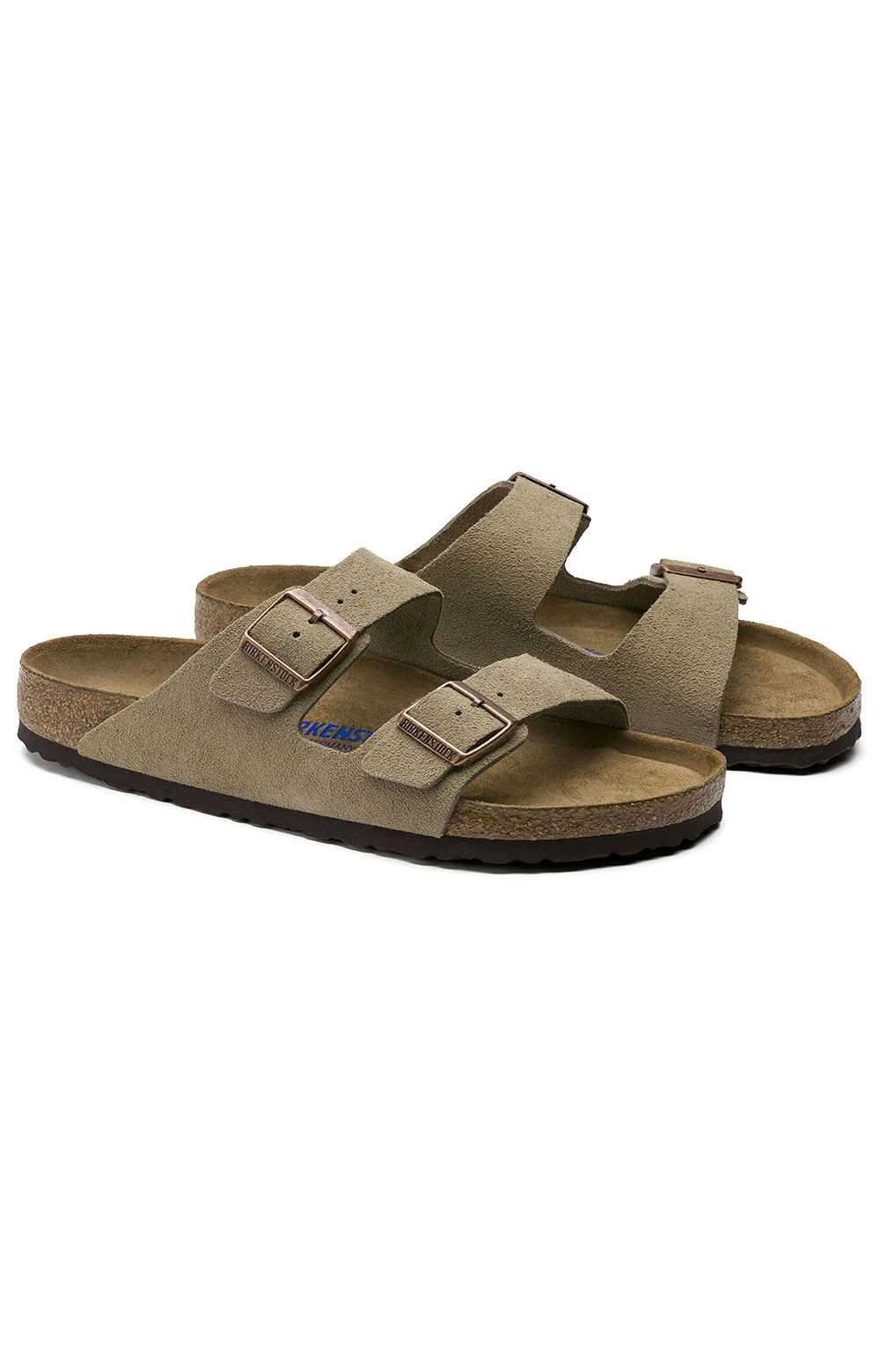 (0951303) Arizona Soft Foodbed Sandals - Taupe