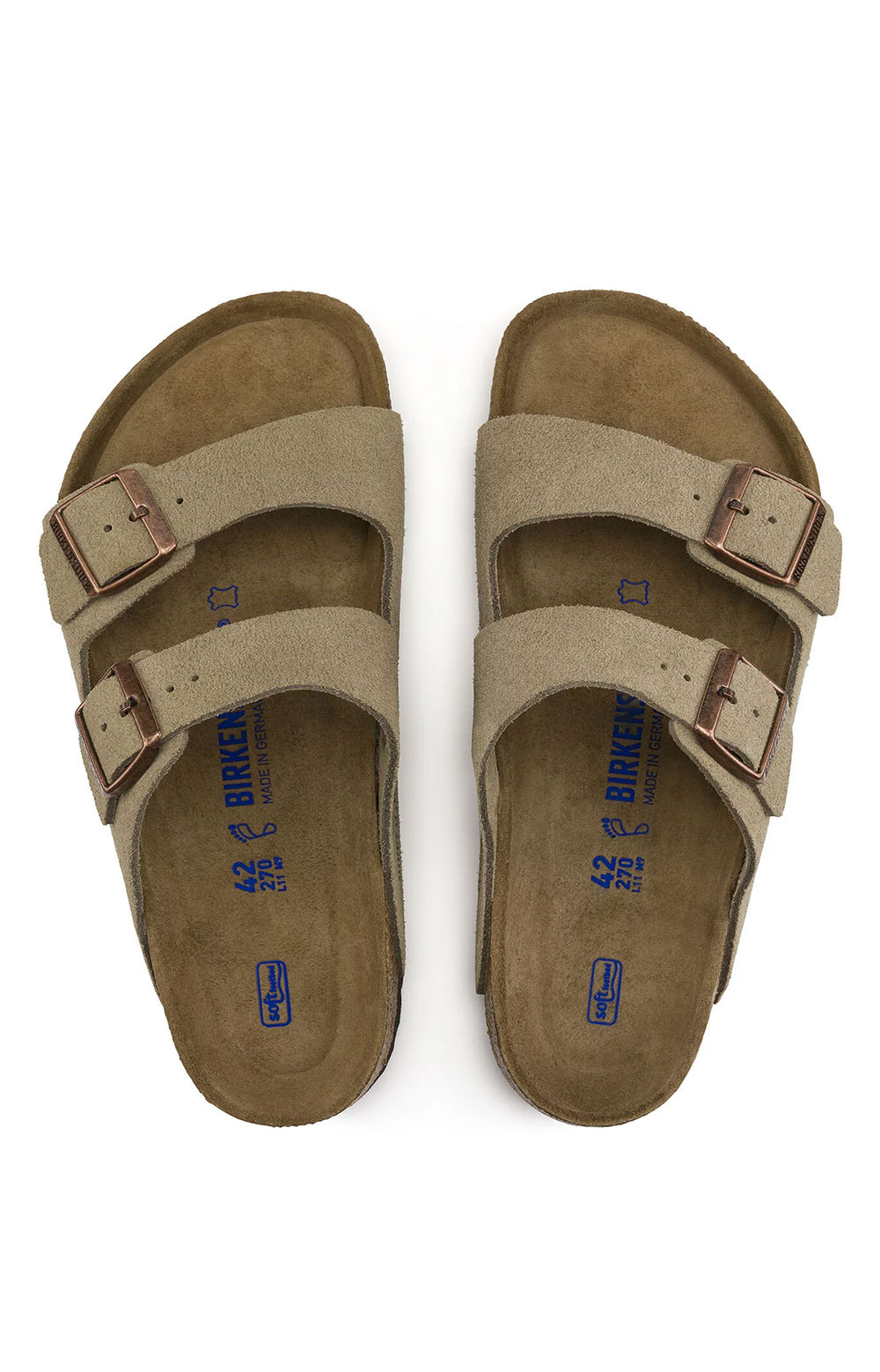 (0951303) Arizona Soft Foodbed Sandals - Taupe 7