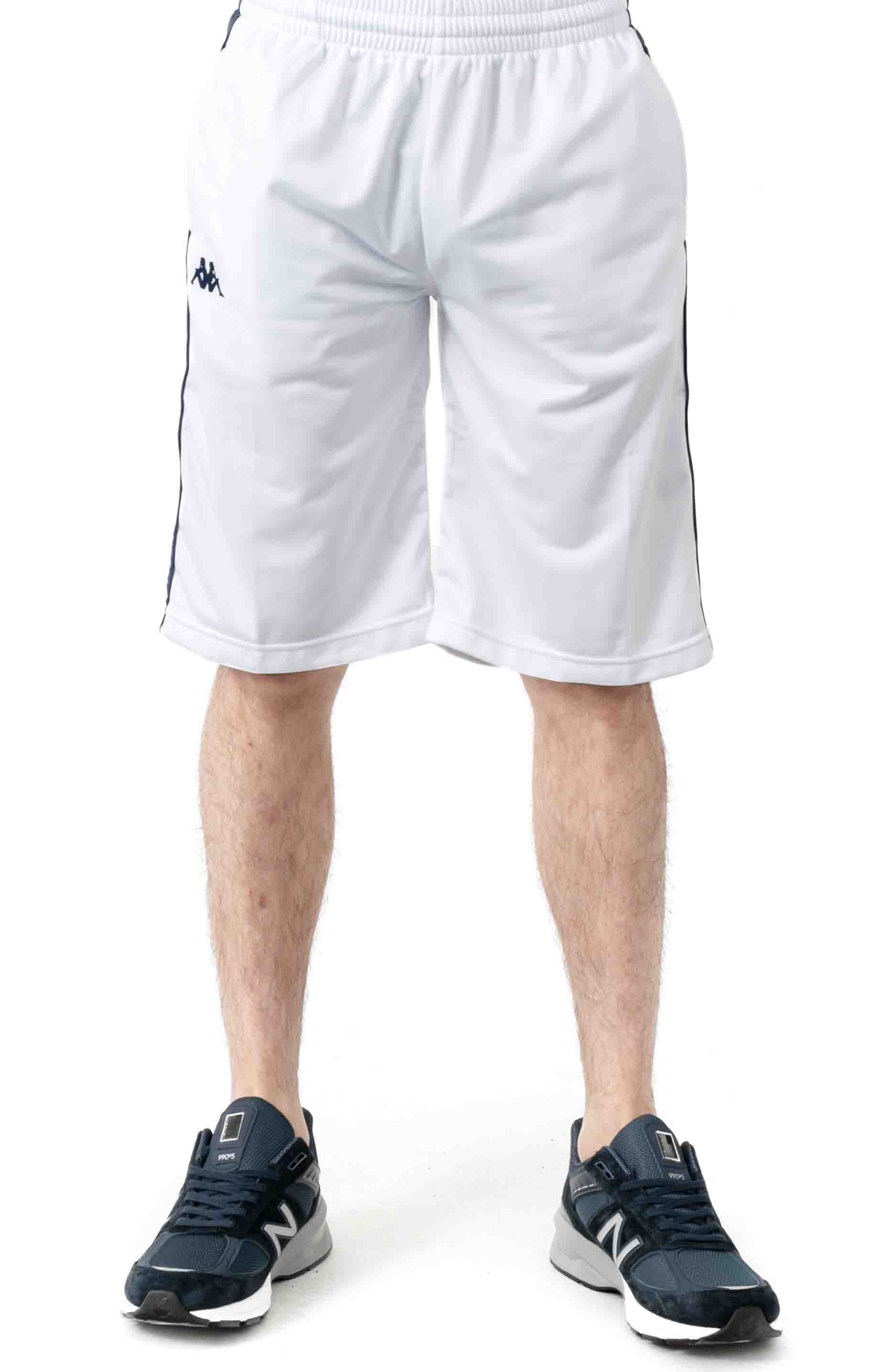 222 Banda Treadwellz Shorts - White/Blue Mid/Yellow 2