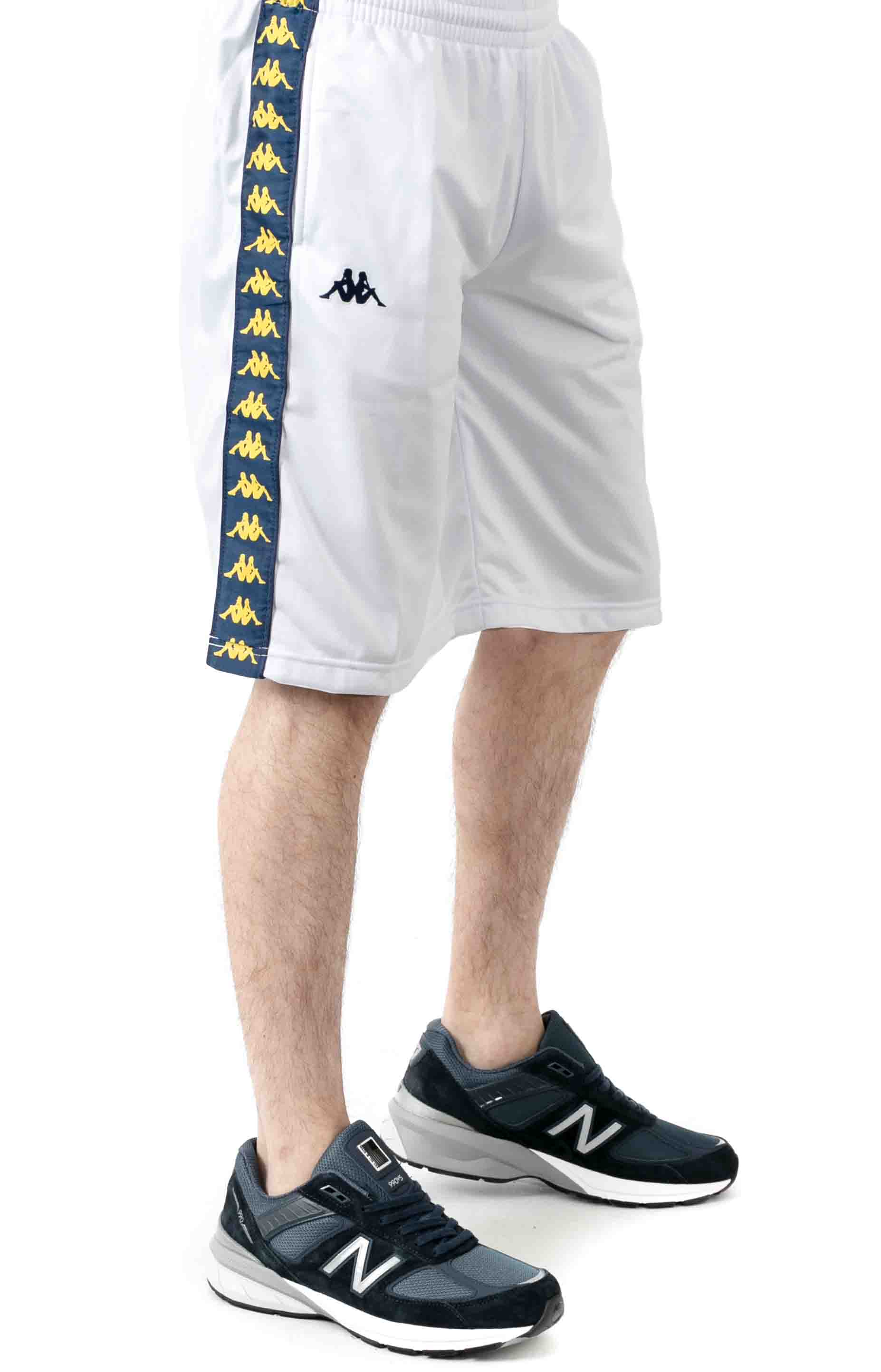222 Banda Treadwellz Shorts - White/Blue Mid/Yellow