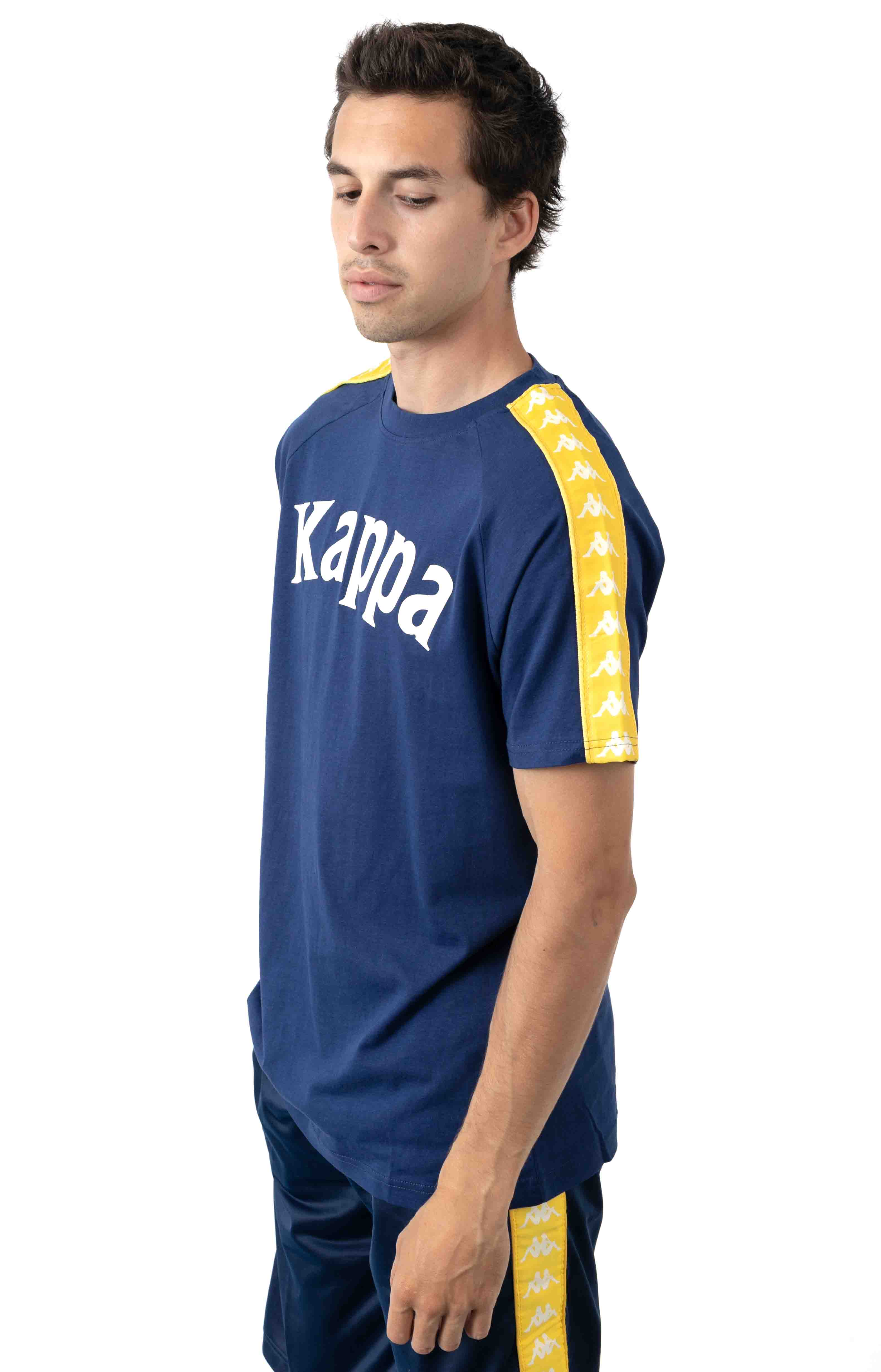 222 Banda Balima T-Shirt - Blue Mid/Yellow 2